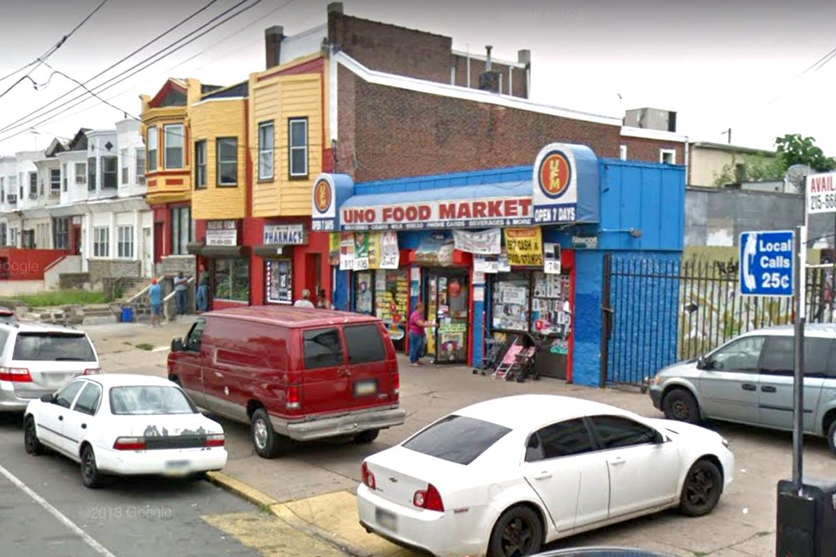 Location of Uno Food Market, 102 E. Allegheny Ave.