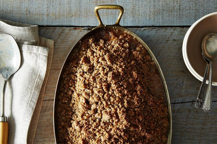 Without the fuss of a crust, apple crisp can put a sweet treat on your table in as little as an hour. This version calls on coconut oil to create a decadent, buttery topping -- no actual butter needed.