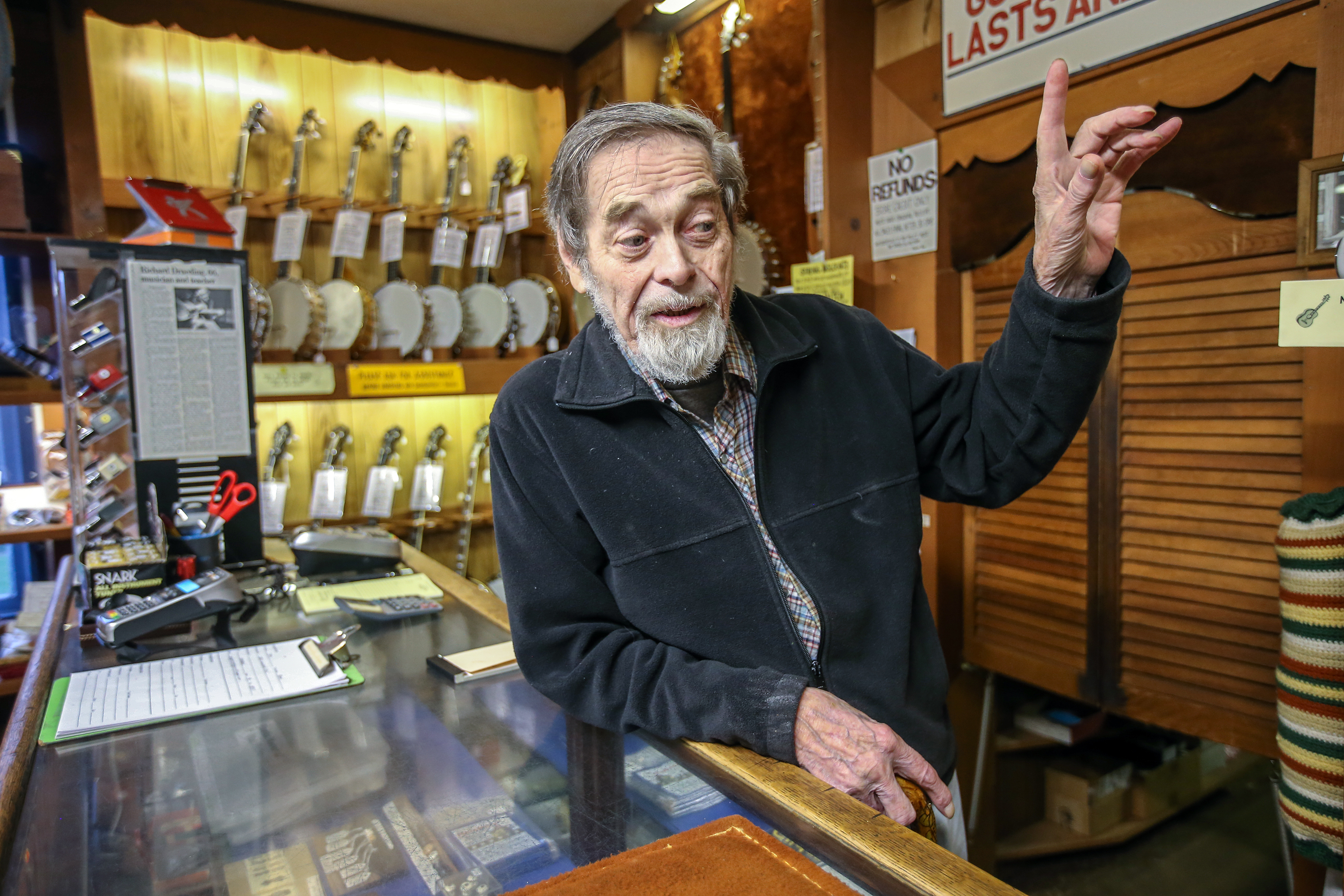 Karl Dieterichs, who started the Bucks County Folk Music Shop with his wife Jackie, talks about the difference in buying a guitar from them or buying your guitar online or at a music chain store.