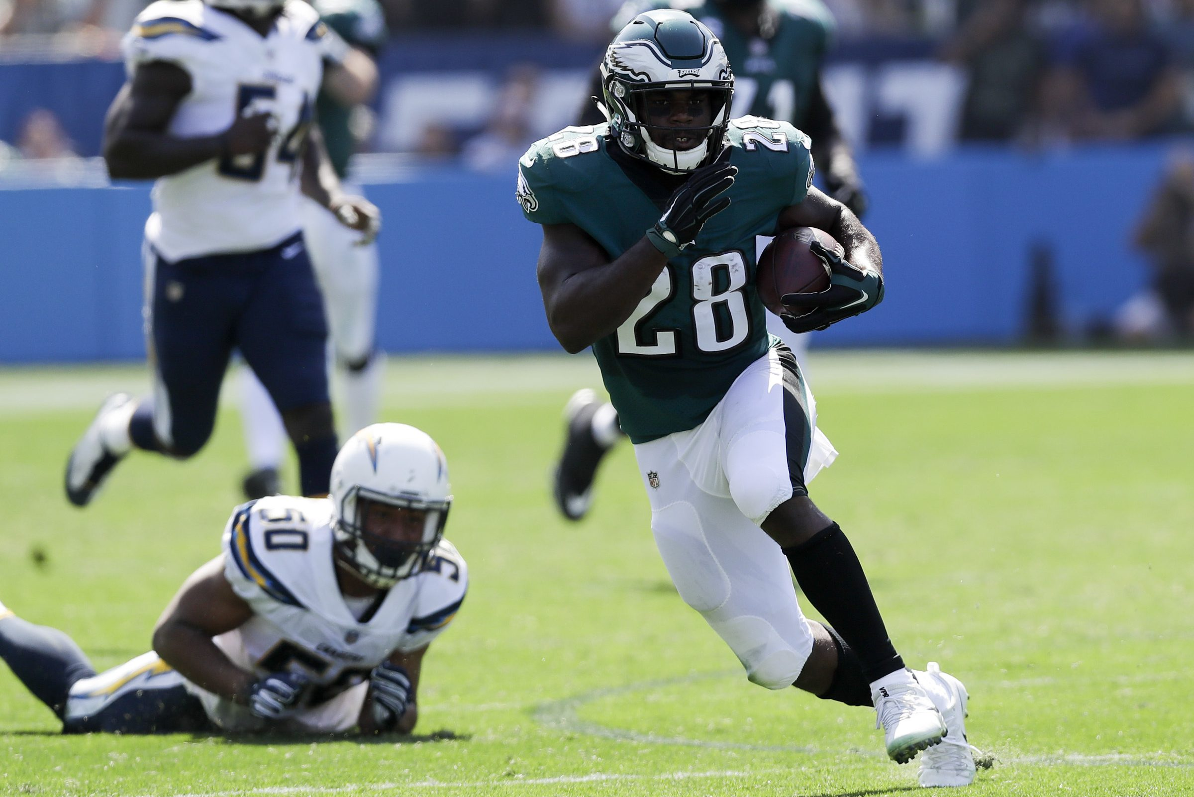 Running back Wendell Smallwood is capitalizing on his increased opportunities.