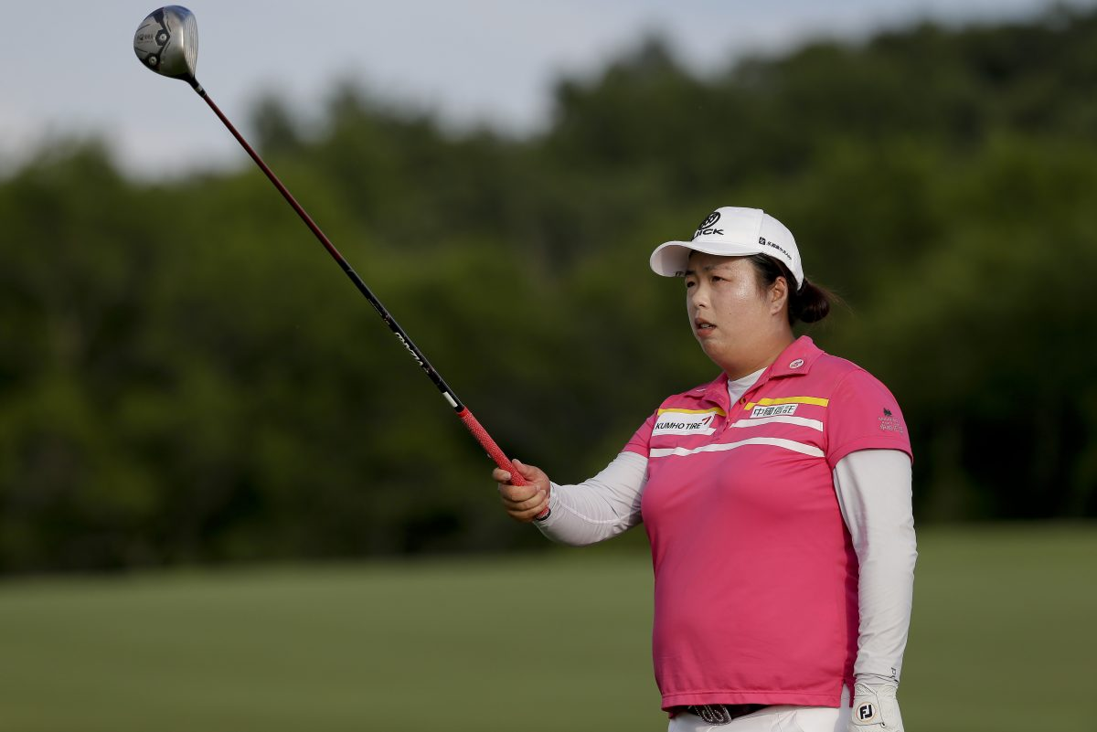 Shanshan Feng, the Women's U.S. Open winner, met Chinese president Xi Jinping after last year's Olympics.