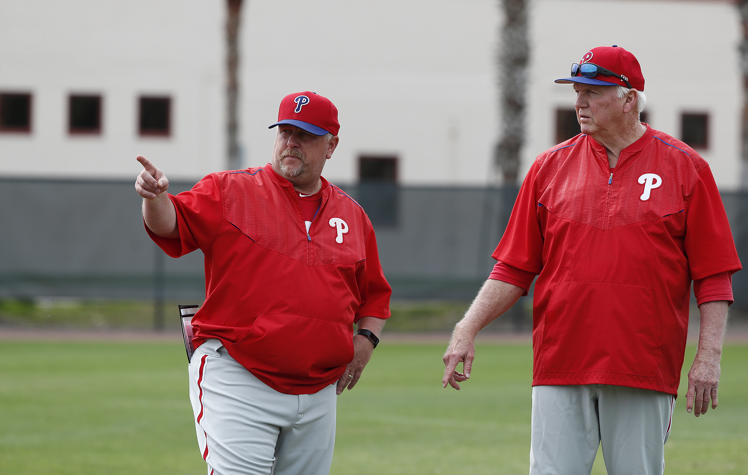 Former Phillies manager Charlie Manuel (right) would make a great subject for a sports documentary. DAVID MAIALETTI / Staff Photographer