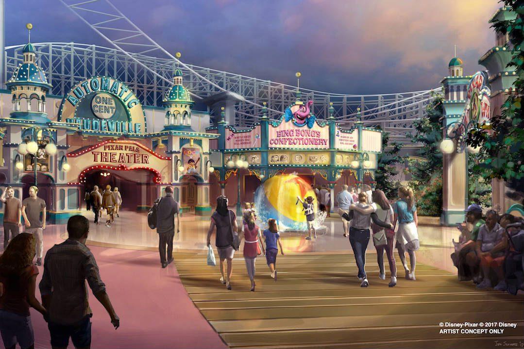 An artist's rendition of a Disney theme park.