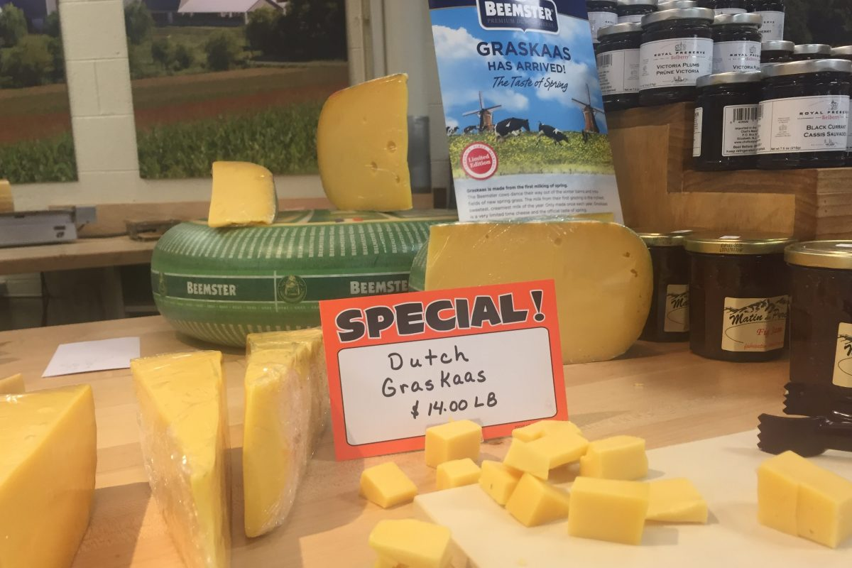 Beemster's Graskaase, a young Gouda made from the spring's first milk, is on sale at S. Clyde Weaver in the Lancaster Farmer's Market in Wayne.