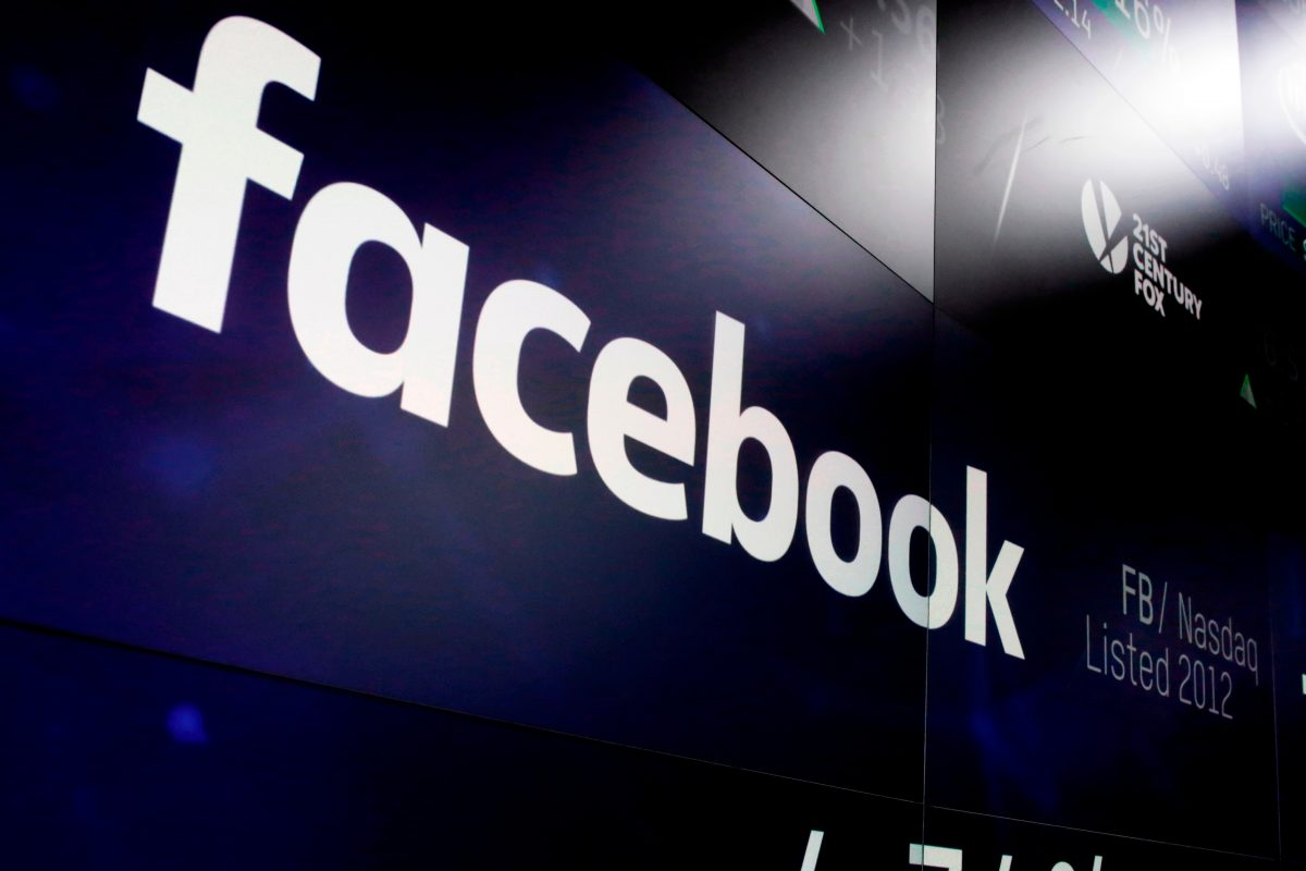 The logo for Facebook appears on screens at the Nasdaq MarketSite in New York´s Times Square.