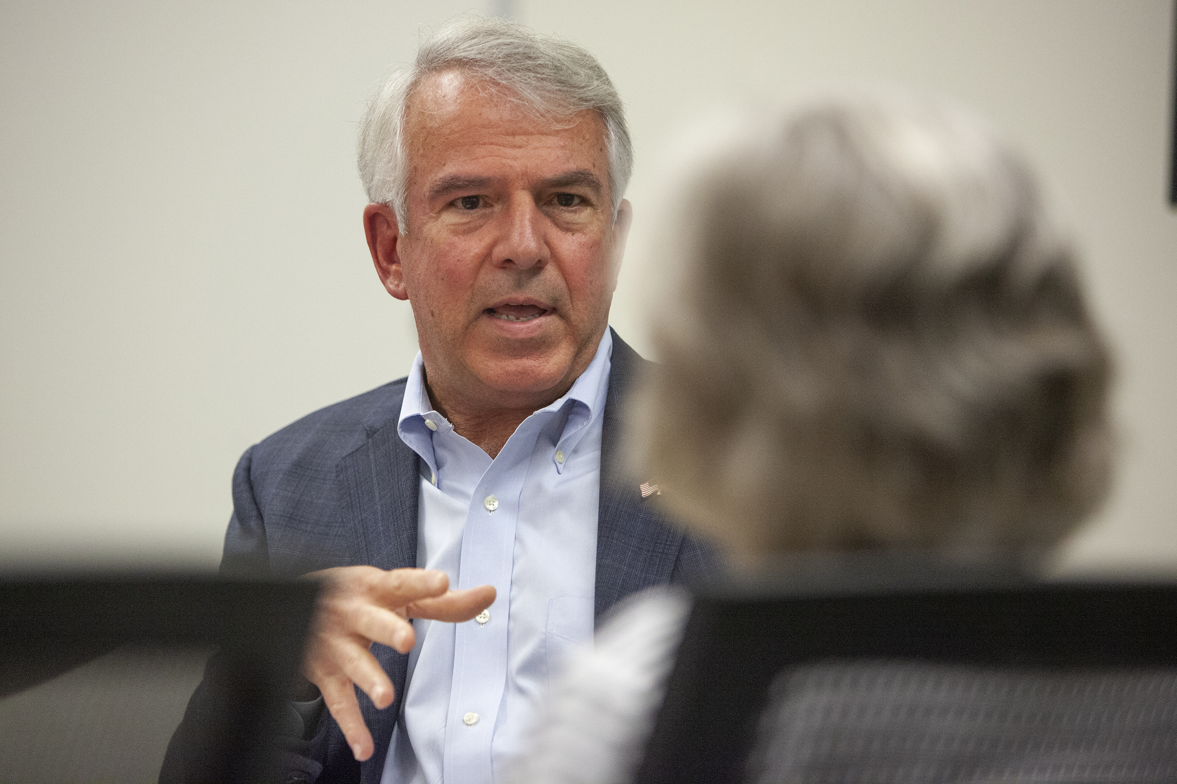 Bob Hugin, Republican nominee for U.S. Senate in New Jersey, meets with reporters and members of the editorial board at the Philadelphia Media Network office on Tuesday, Oct. 09, 2018.