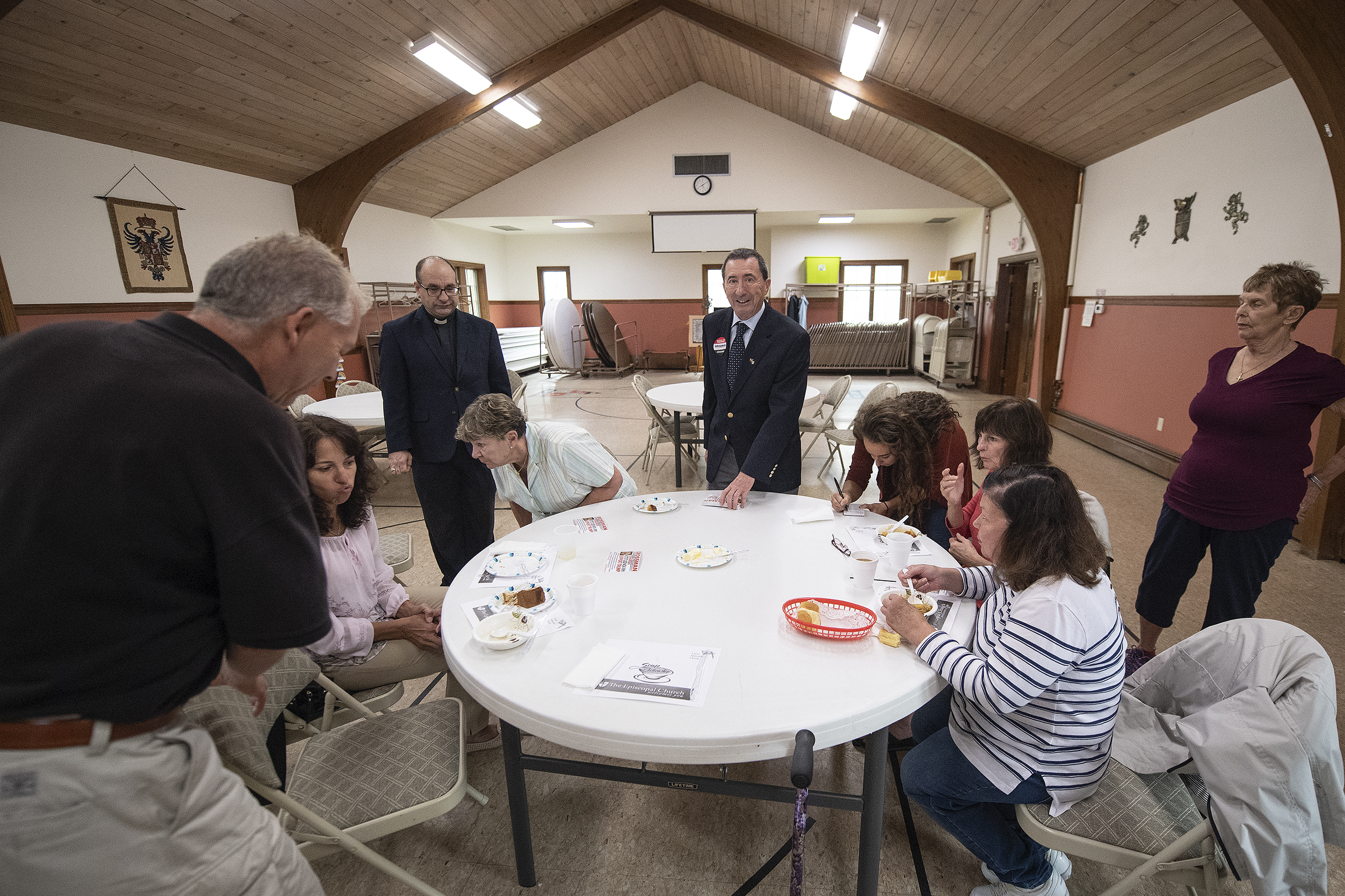 New Jersey 2d district Congressional Candidate Seth Grossman present his platform to Somers Point resident at the Christ Episcopal Church in Somers Point, N.J. Thursday, October 11, 2018. JOSE F. MORENO / Staff Photographer