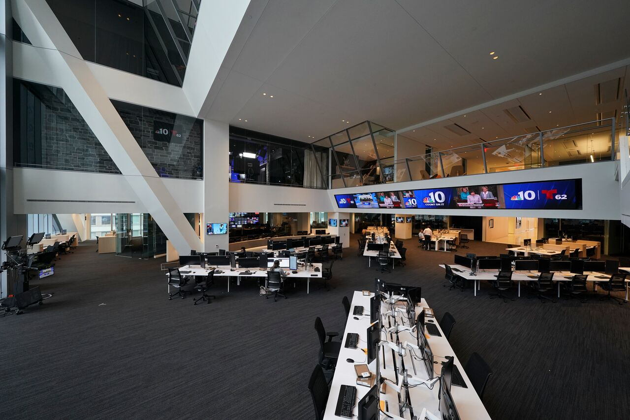NBC10 and Telemundo62 are moving into the Comcast Technology Center. The stations will begin airing from there this fall, station president and general manager Ric Harris said.