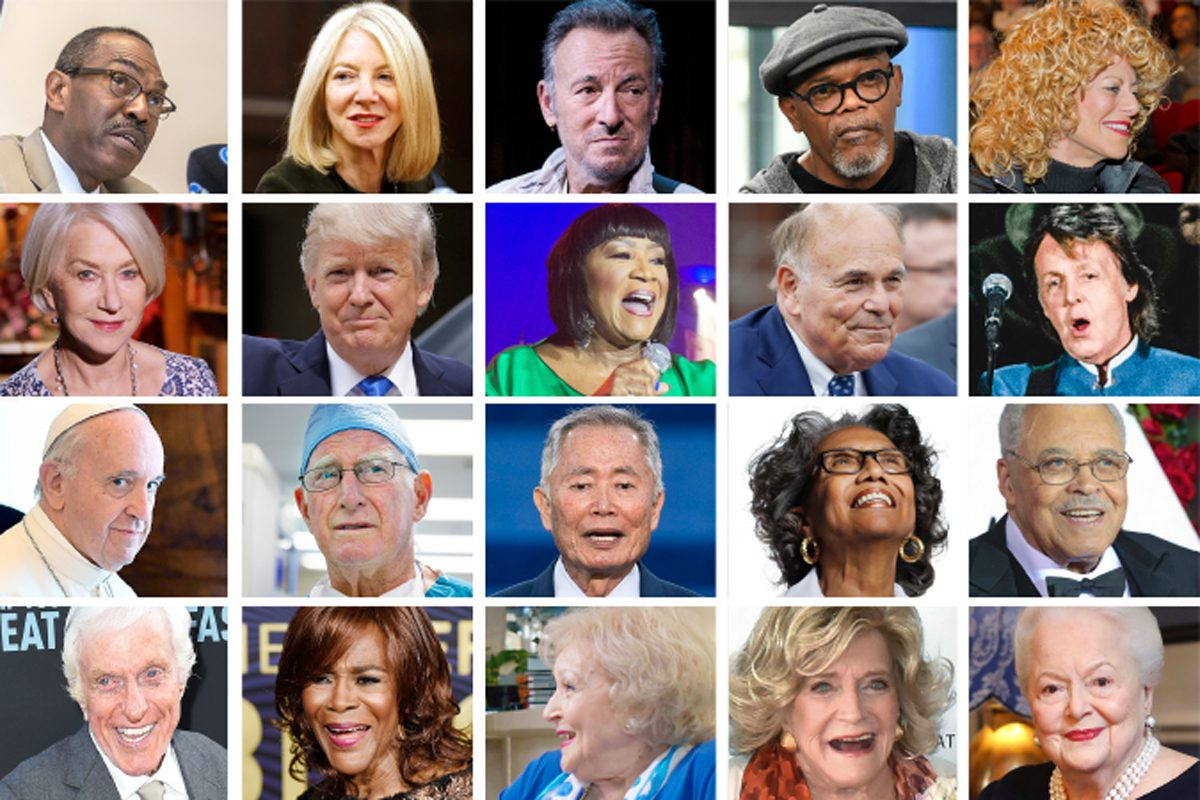 These Philadelphia and national celebrities are 65 and older.  We'll share their names and ages below.