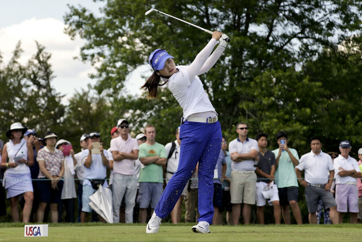 Hye-Jin Choi, of South Korea,, was a late mistake away from becoming the youngest player to win the U.S. Women's Open.