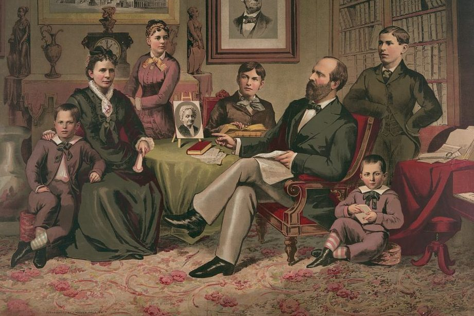 President Garfield with his family