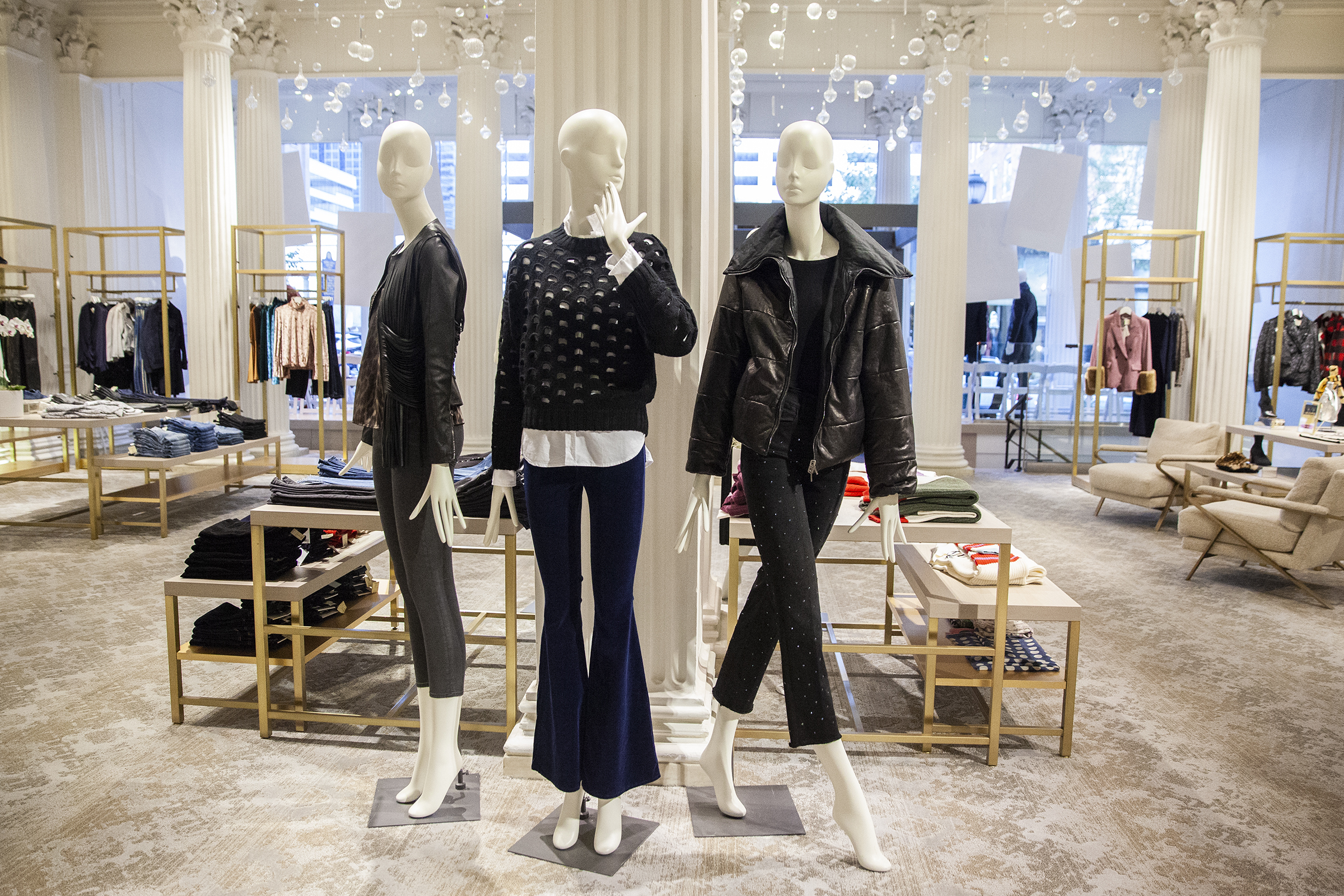 A look at the women´s clothing selection at Boyds Philadelphia, the landmark department store at 1818 Chestnut on Friday, Sept. 28, 2018. Deborah Soss, a former accessories buyer for Bergdorf Goodman, is now doing the bulk of the buying for the improved women´s section of Boyds. HEATHER KHALIFA / Staff Photographer