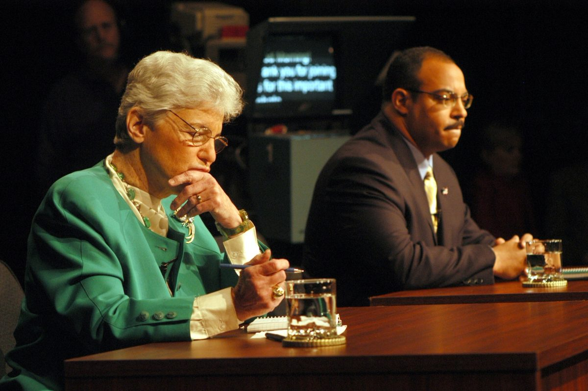 The NAACP opposes the application of former District Attorney Lynne Abraham, shown here during a 2005 debate, to finish the term of convicted DA Seth Williams.