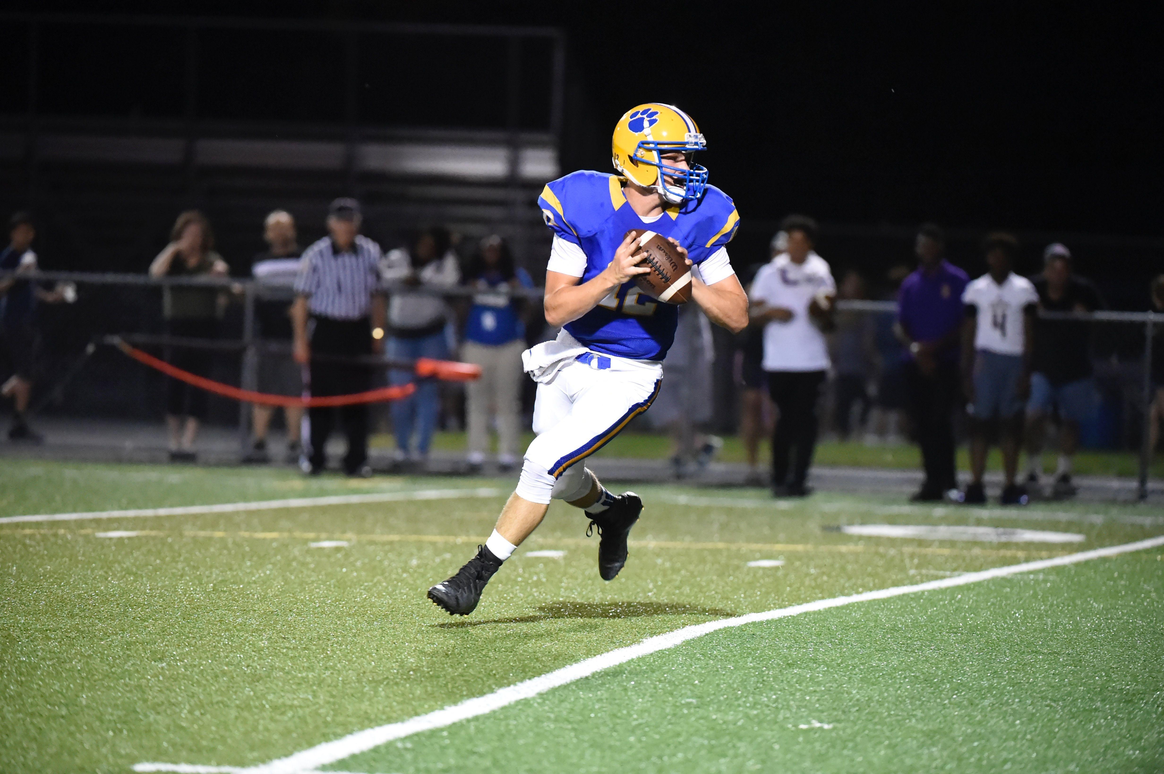 Downingtown East senior quarterback Luke Davis did not play last season due to a broken collarbone.