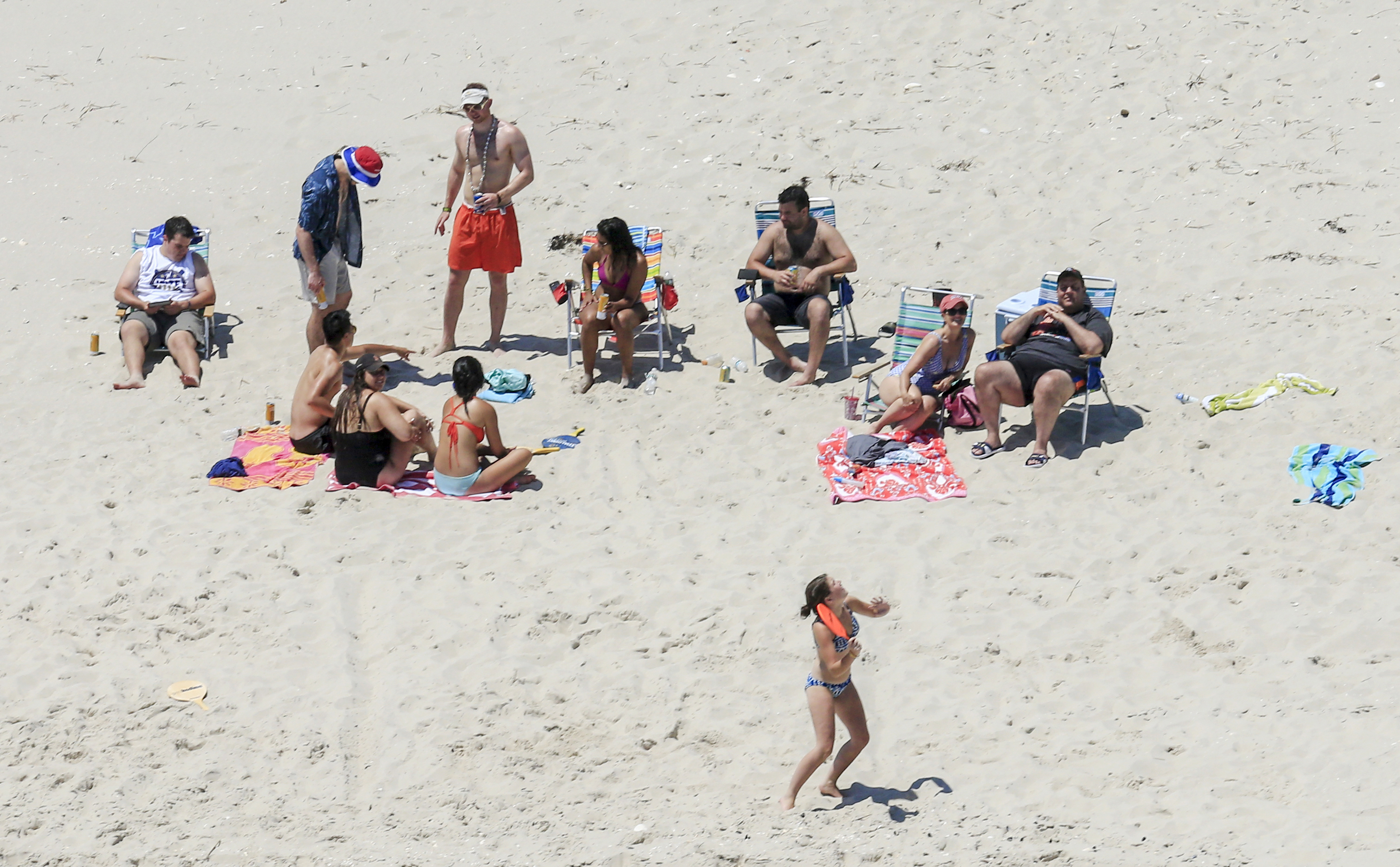 Gov. Christie (right) and his family at Island Beach State Park, which was closed to the public due to the state government shutdown.