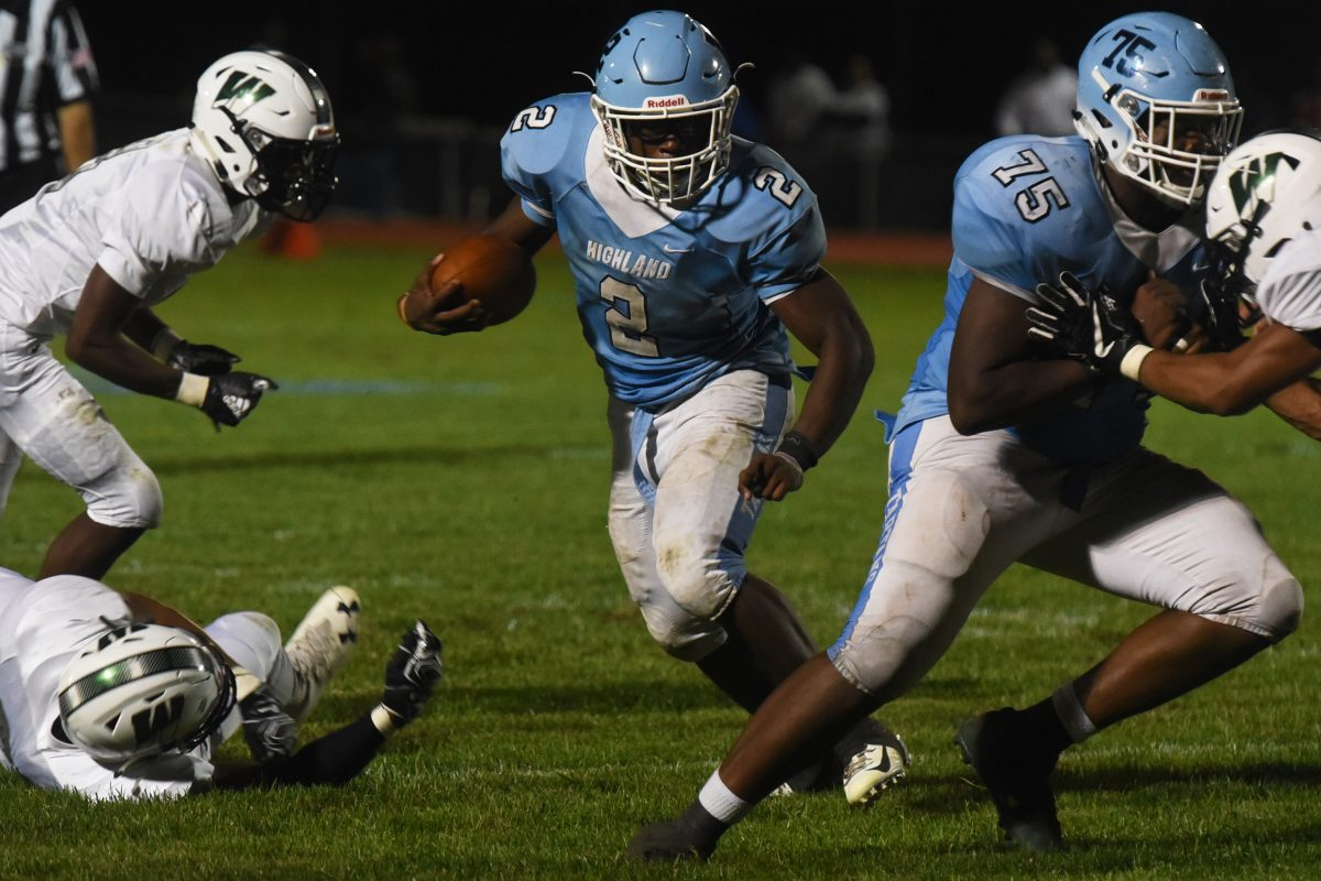 Sophomore running back Johnny Martin will lead Highland vs. Burlington Twp. in battle of unbeaten and highly ranked teams.