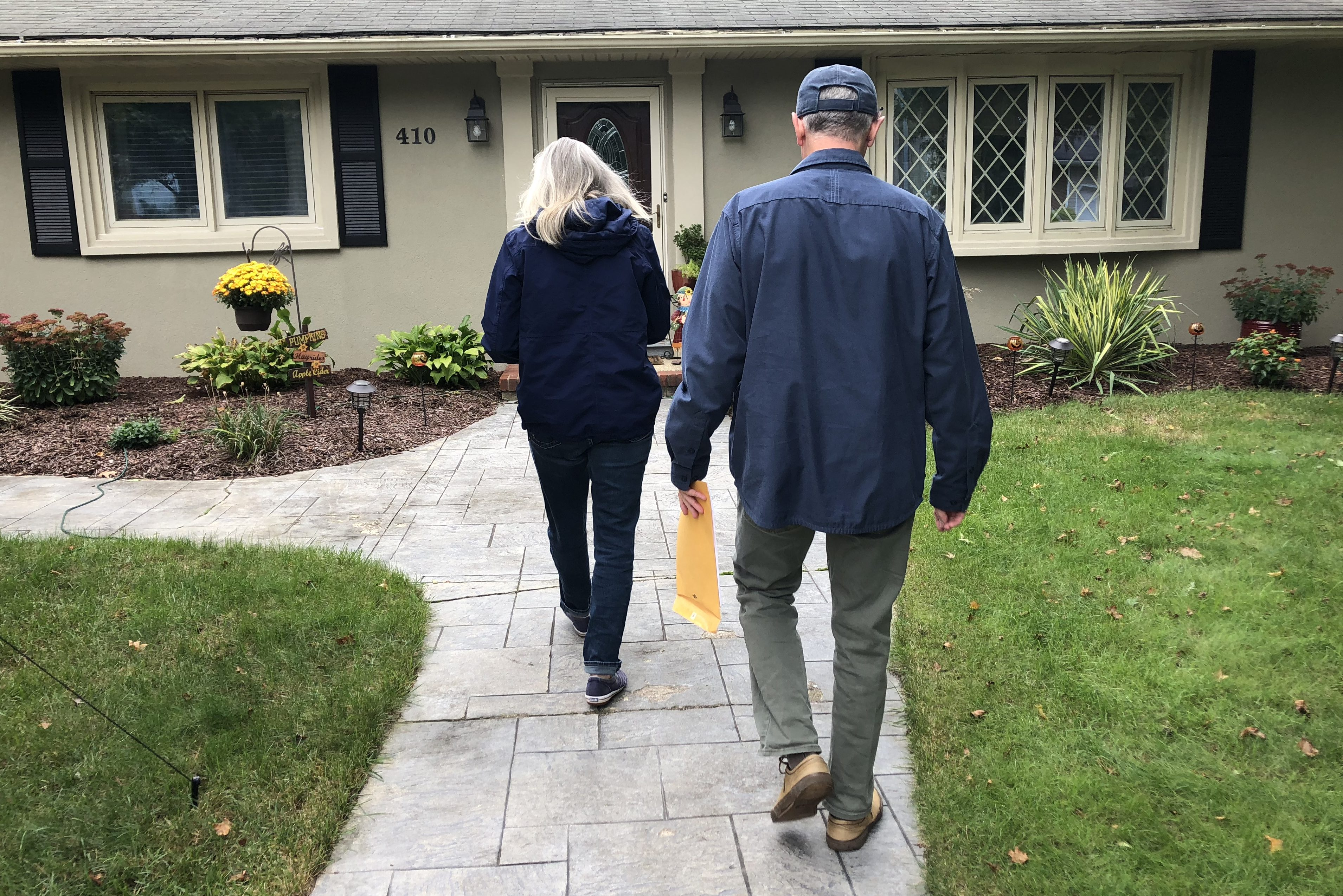 Judd Wampole and Laura Docherty of Brick Township went canvassing for the first time in their neighborhood on behalf of Andy Kim, congressional candidate running against Rep. Tom MacArthur.