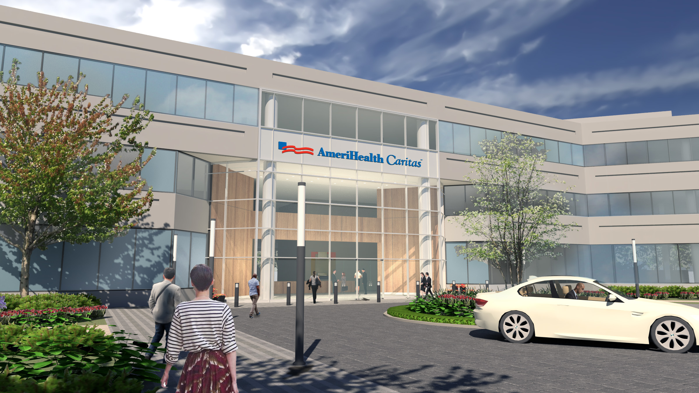 Artist´s rendering of AmeriHealth Caritas´ current space at the Airport Business Center offices after renovations. Credit: