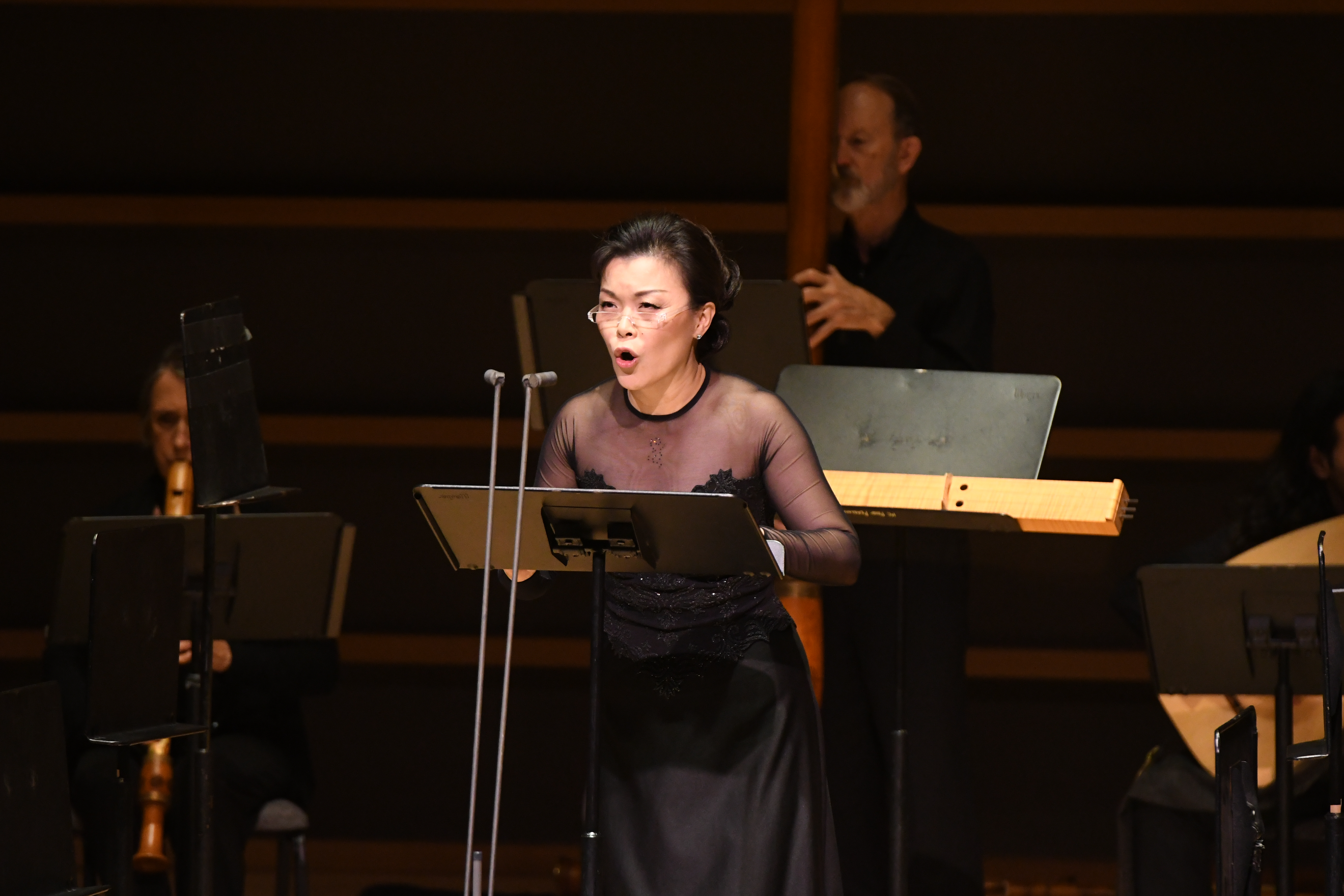 Soprano Hyunah Yu at the premiere of The Anchoress Wednesday night at the Kimmel Center.