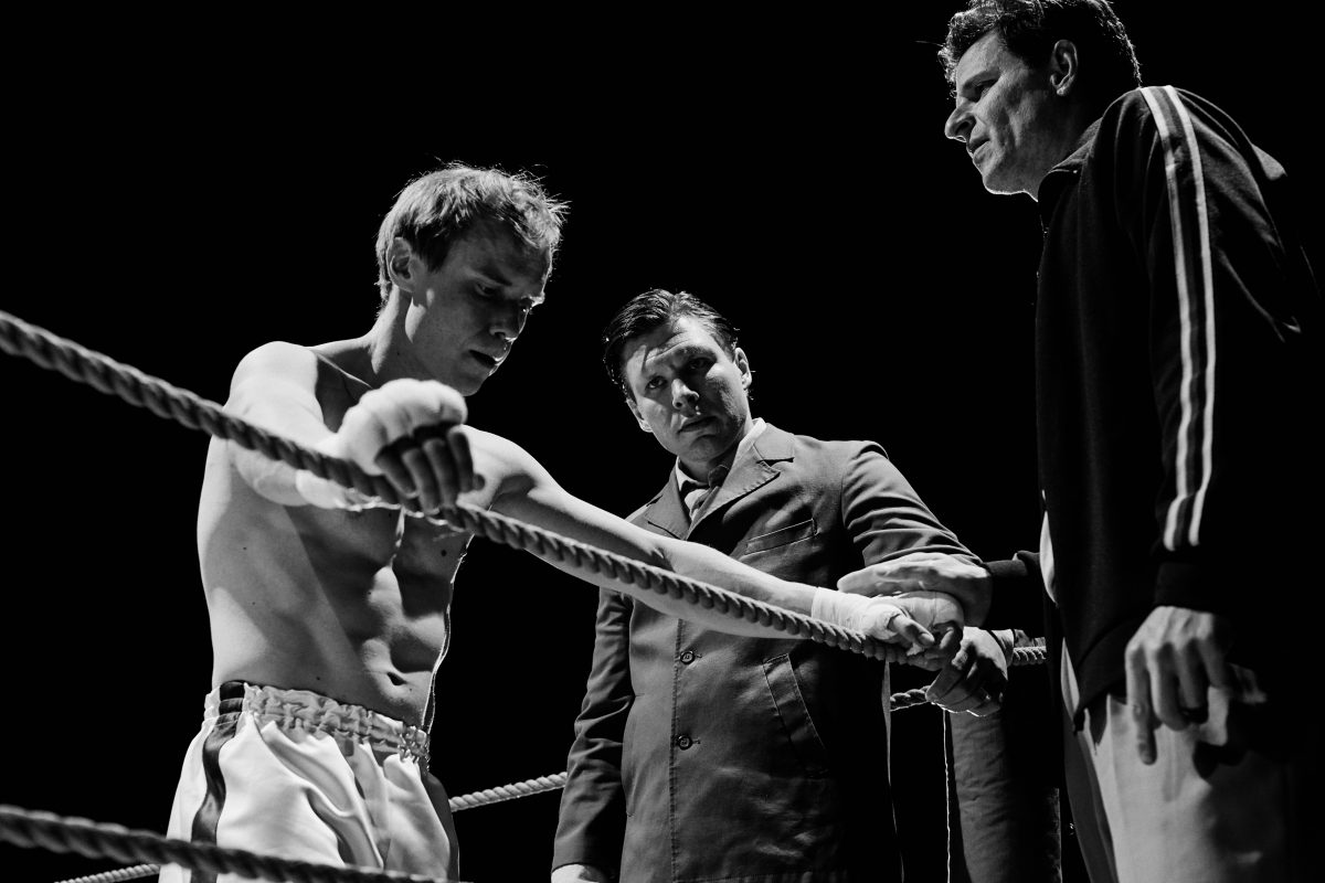"""The Happiest Day in the Life of Olli Mäki"": Jarkko Lahti as boxer Olli Mäki (left) and Eero Milonoff as Elis Ask (right)."