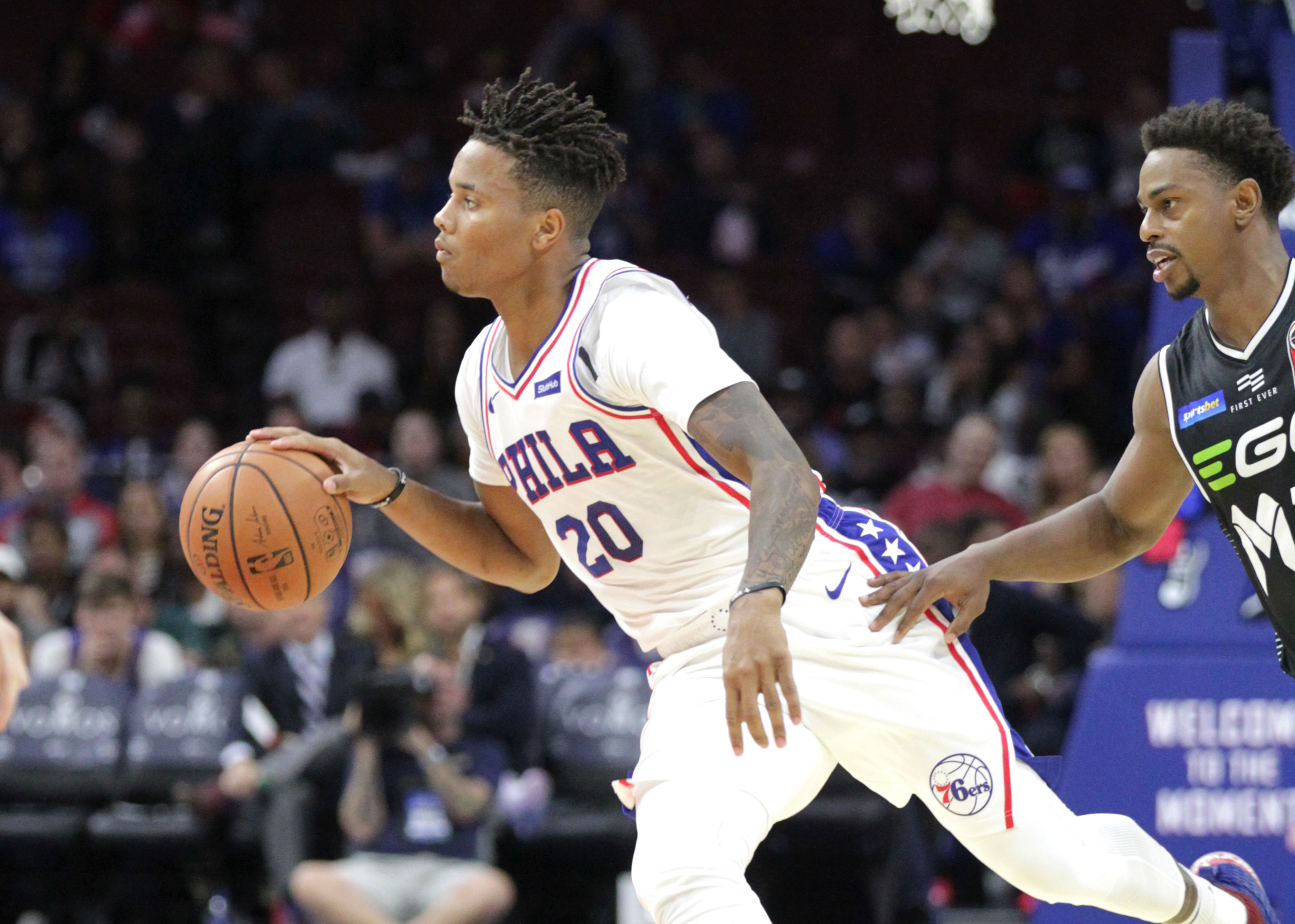 Markelle Fultz, left, will start for the Sixers in the season opener.