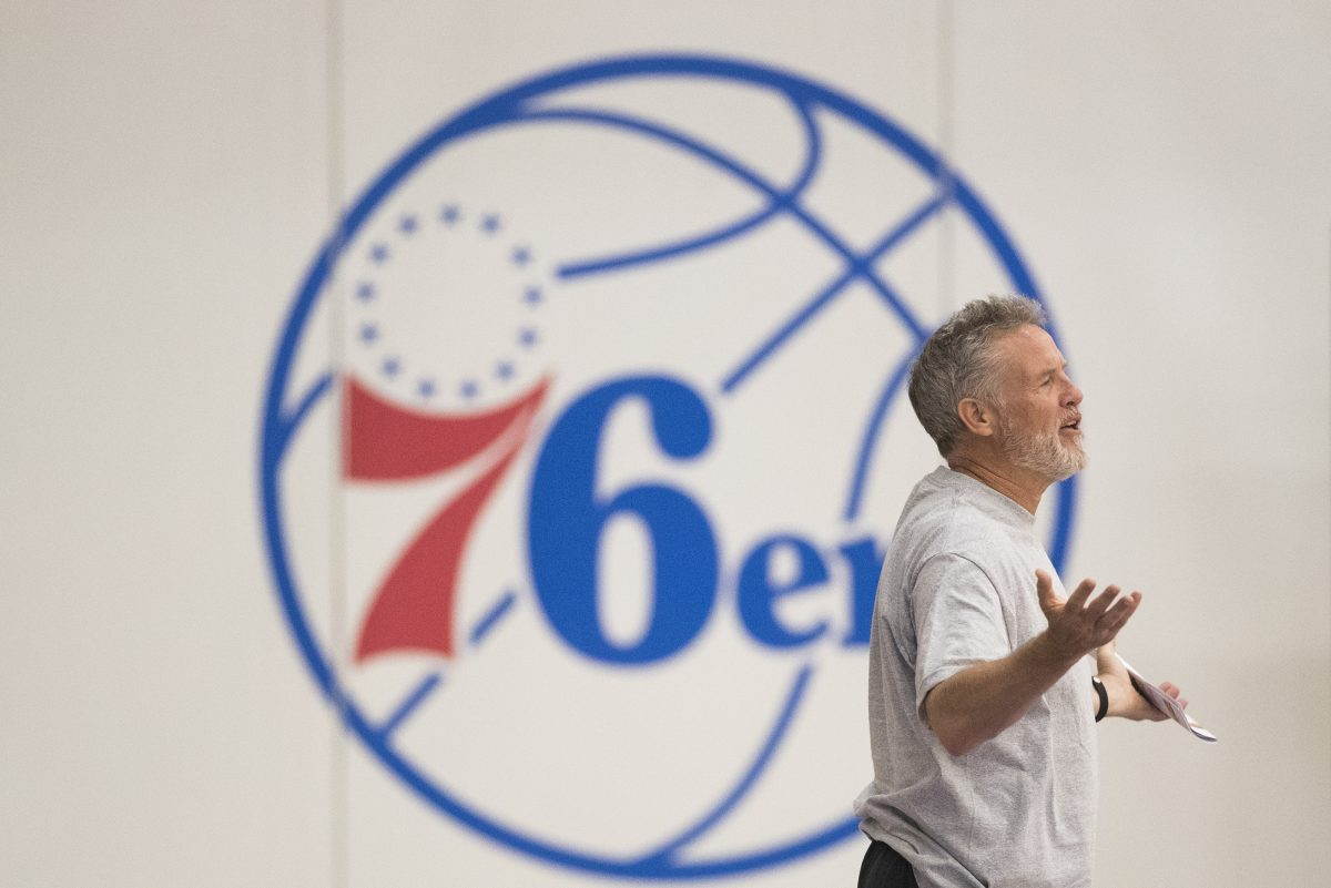 Sixers coach Brett Brown.