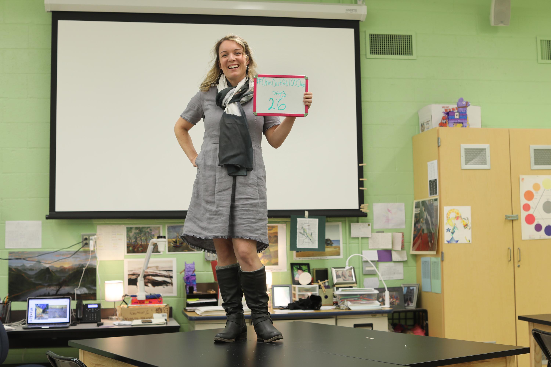 Julia Mooney has been a teacher in Moorestown public schools for 10 years. DAVID SWANSON / Staff Photographer .