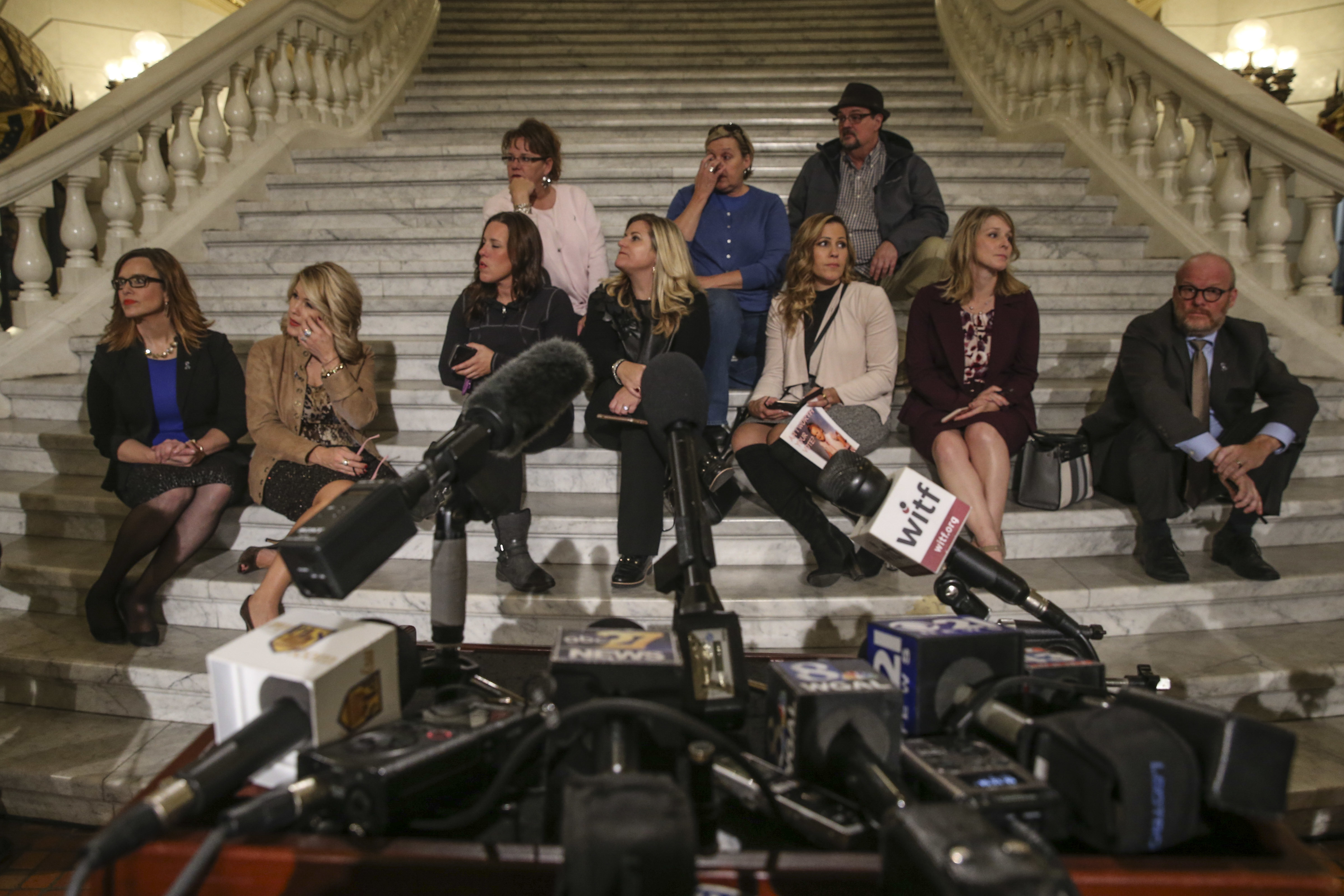 After a clergy abuse bill collapsed in the Pennsylvania Senate late Wednesday night, victims gathered in the Capitol rotunda awaiting the arrival of Pennsylvania Attorney General Josh Shapiro.