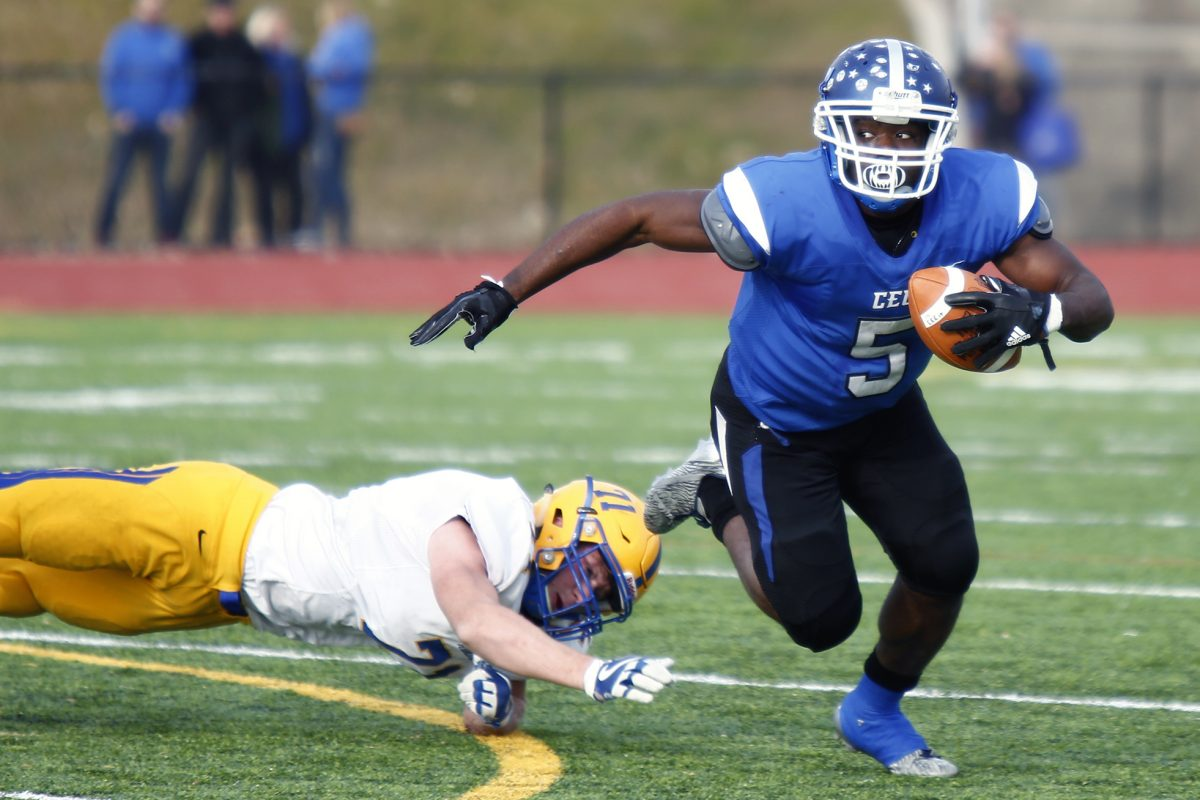 Conwell-Egan's Patrick Garwo has carried 144 times for 1,236 yards and 16 touchdowns.