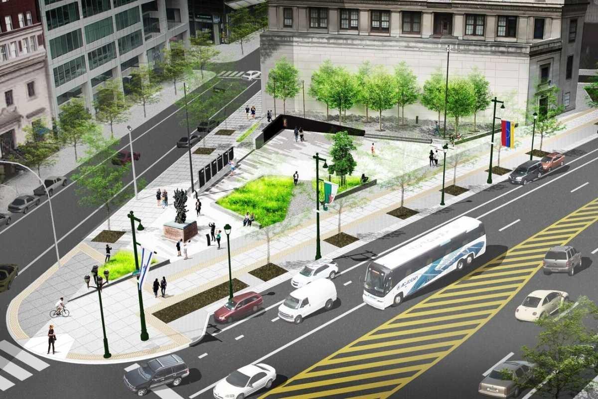 Artist´s rendering of ther redesigned Philadelphia Holocaust Memorial.