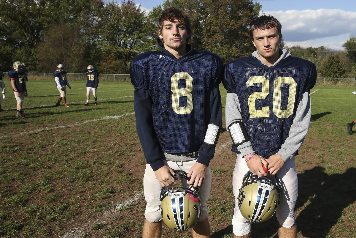 Spring-Ford linebacker Nick DelRomano (8) and two-way back Stephen Brill (20) are senior leaders.