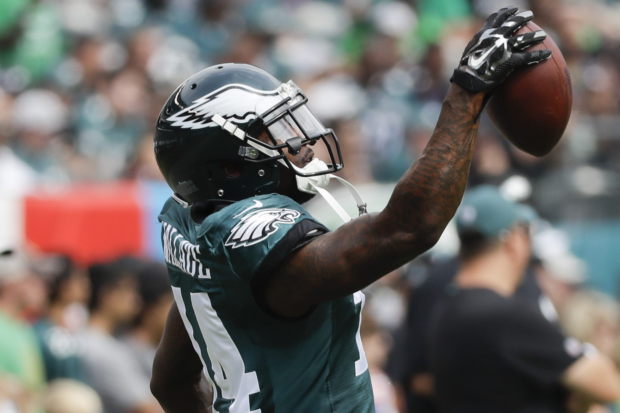 Wide receiver Mike Wallace is recovering from a broken leg.