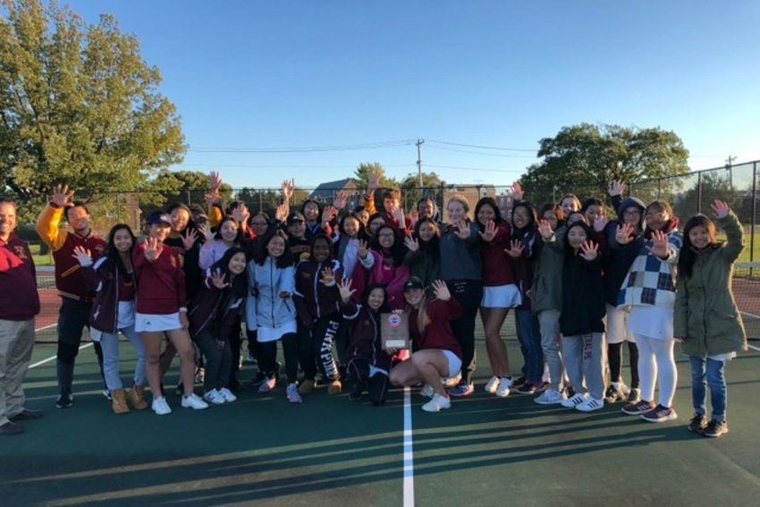 The Central girls' tennis team won its fifth consecutive district title on Thursday.
