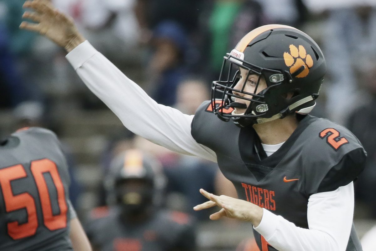 Woodrow Wilson quarterback Nick Kargman and the Tigers lost to Willingboro on Saturday.
