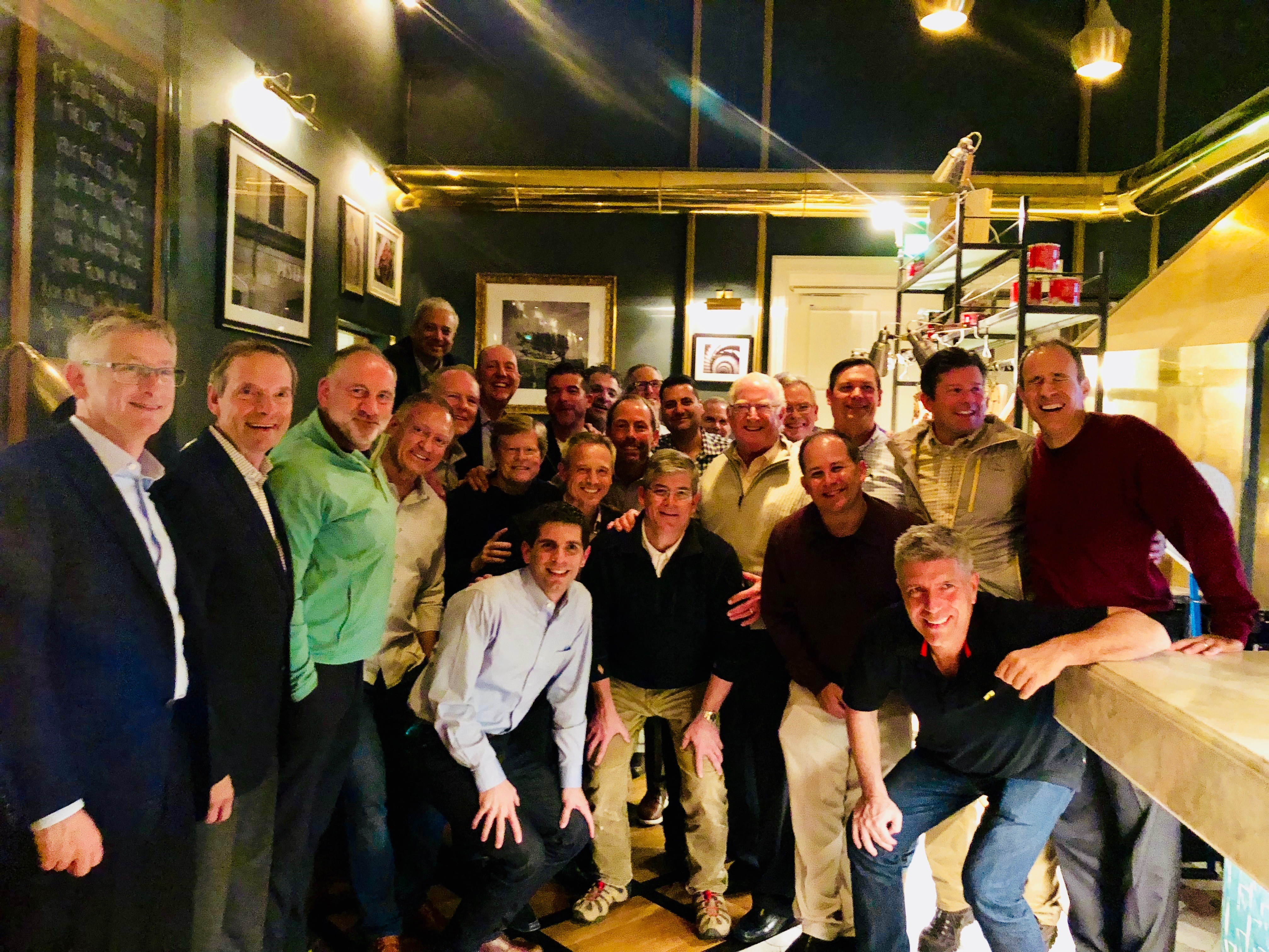 Richard Rothman, with silver hair and zip-front sweater near the center, traveled to Iceland earlier this month for a meeting of Rothman Institute boards.
