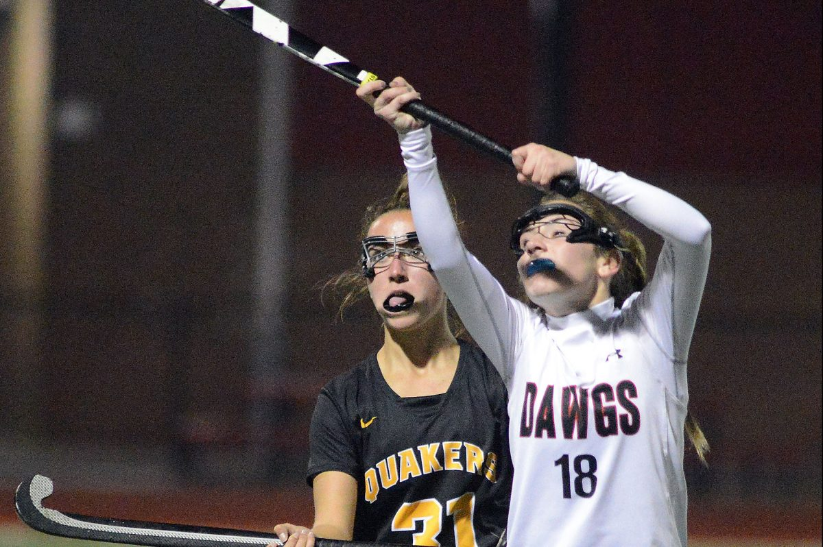 Haddonfield's Natalie Naticchia, pictured against Moorestown last November, scored two goals and an assist in a 3-1 win over Seneca Tuesday.