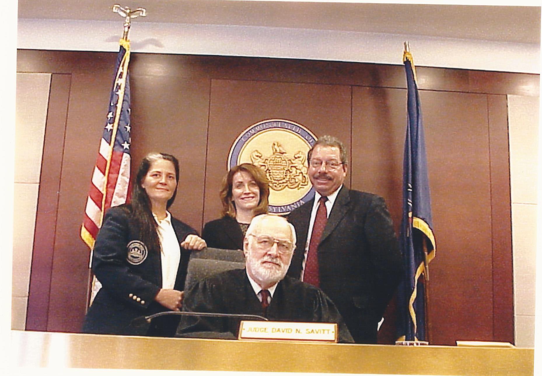 Judge David N. Savitt with Common Pleas Court staff.