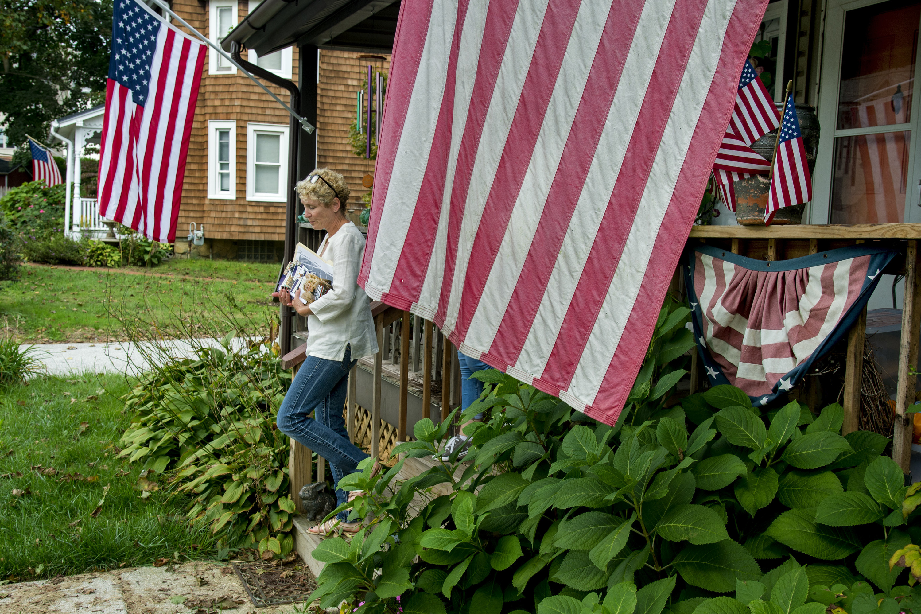 Chrissy Houlahan, Democratic candidate for Pennsylvania´s 6th congressional district, canvasses in Malvern October 7, 2018.