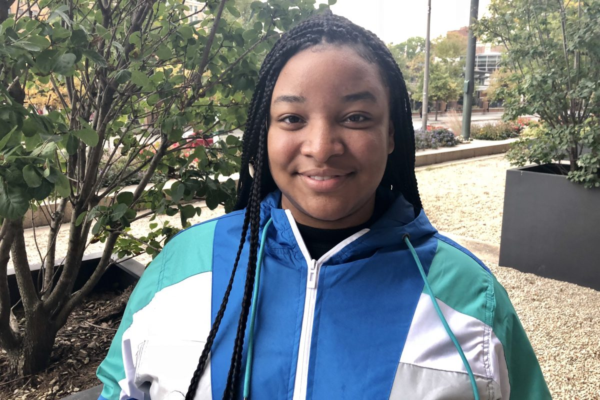 """Cynthia Blocker, now 22, has been housing insecure since she was 14. Blocker will speak at """"In Our Backyards: Pulling Back the Curtain on Homeless Youth Trauma,"""" a free day-long conference at Temple University on Nov. 2."""