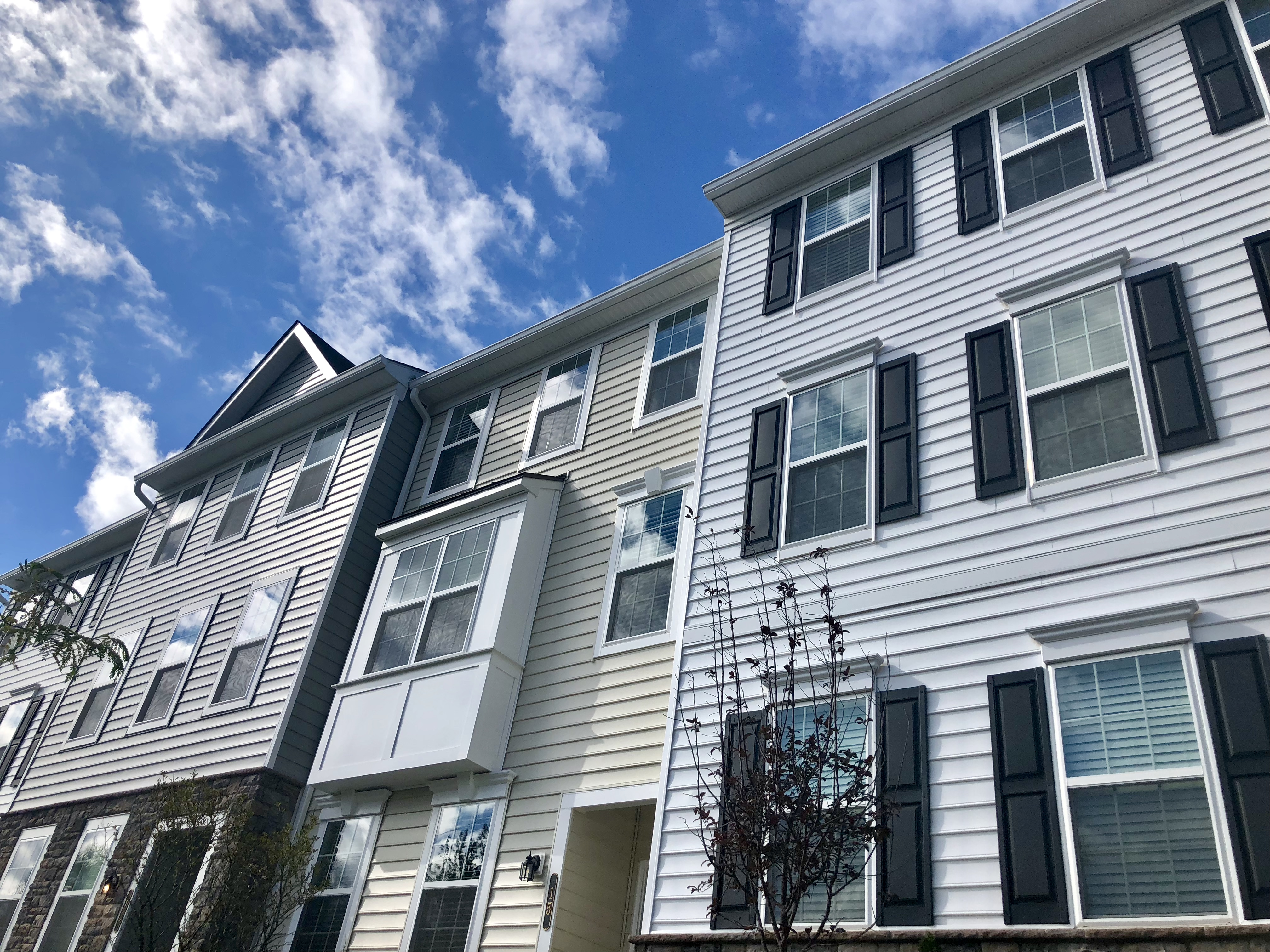 A block of townhouses in Hatboro Station, a new residential community in Hatboro, Pa.