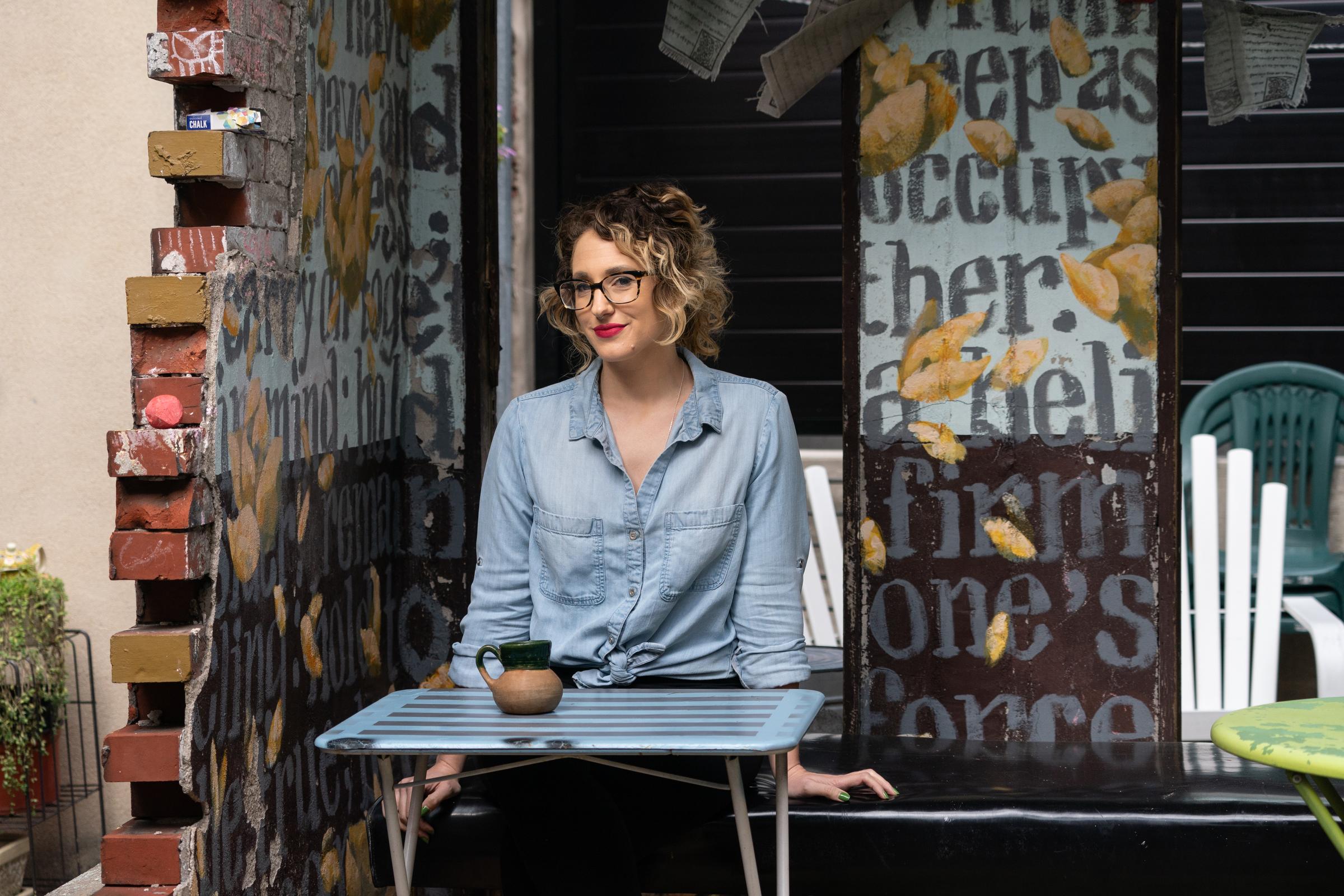 Writer-activist-researcher Melissa Fabello, shown here at the Random Tea Room, 713 N 4th St, Philadelphia, October 29, 2018.