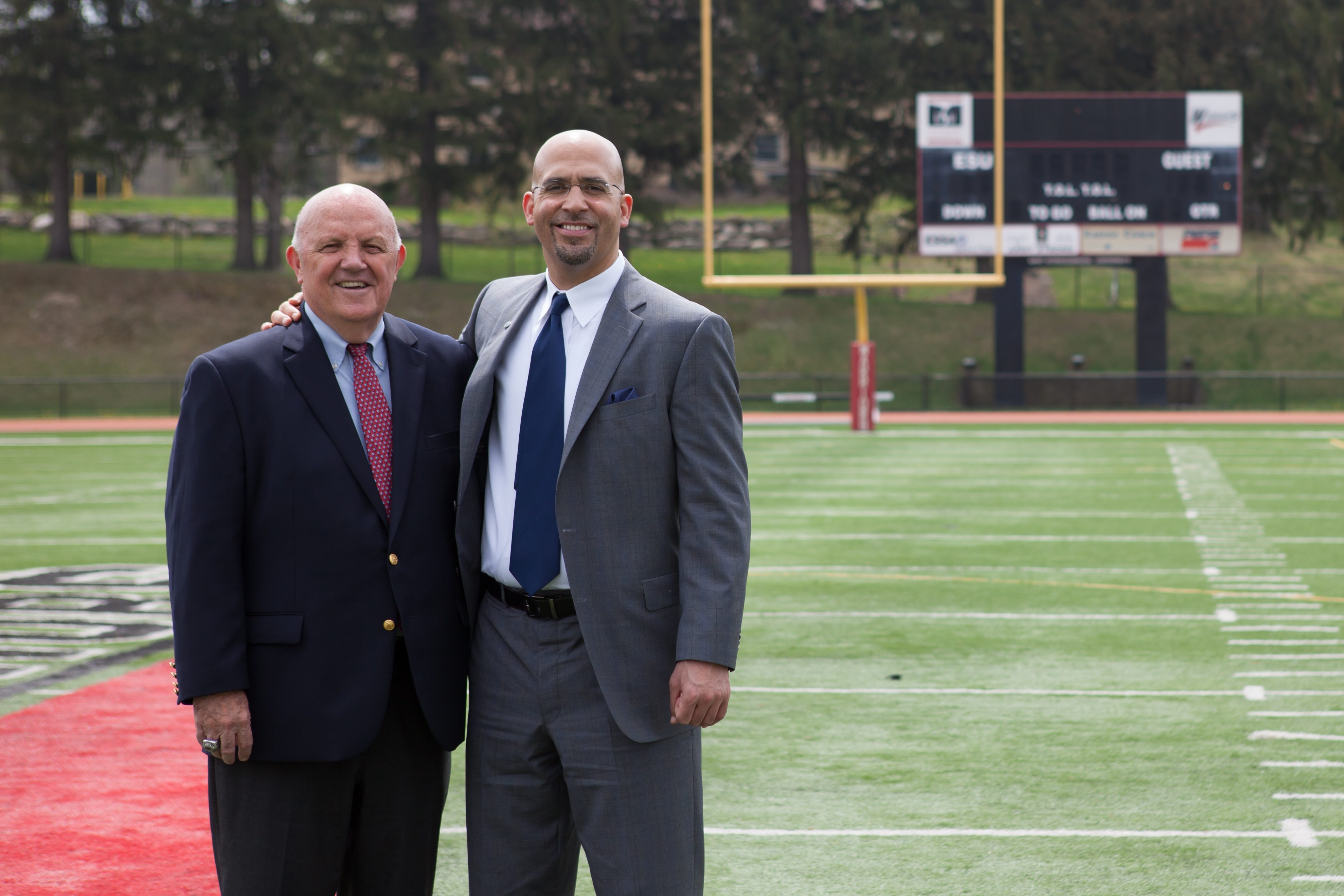 Denny Douds coached James Franklin at East Strousburg University in the early 90s.