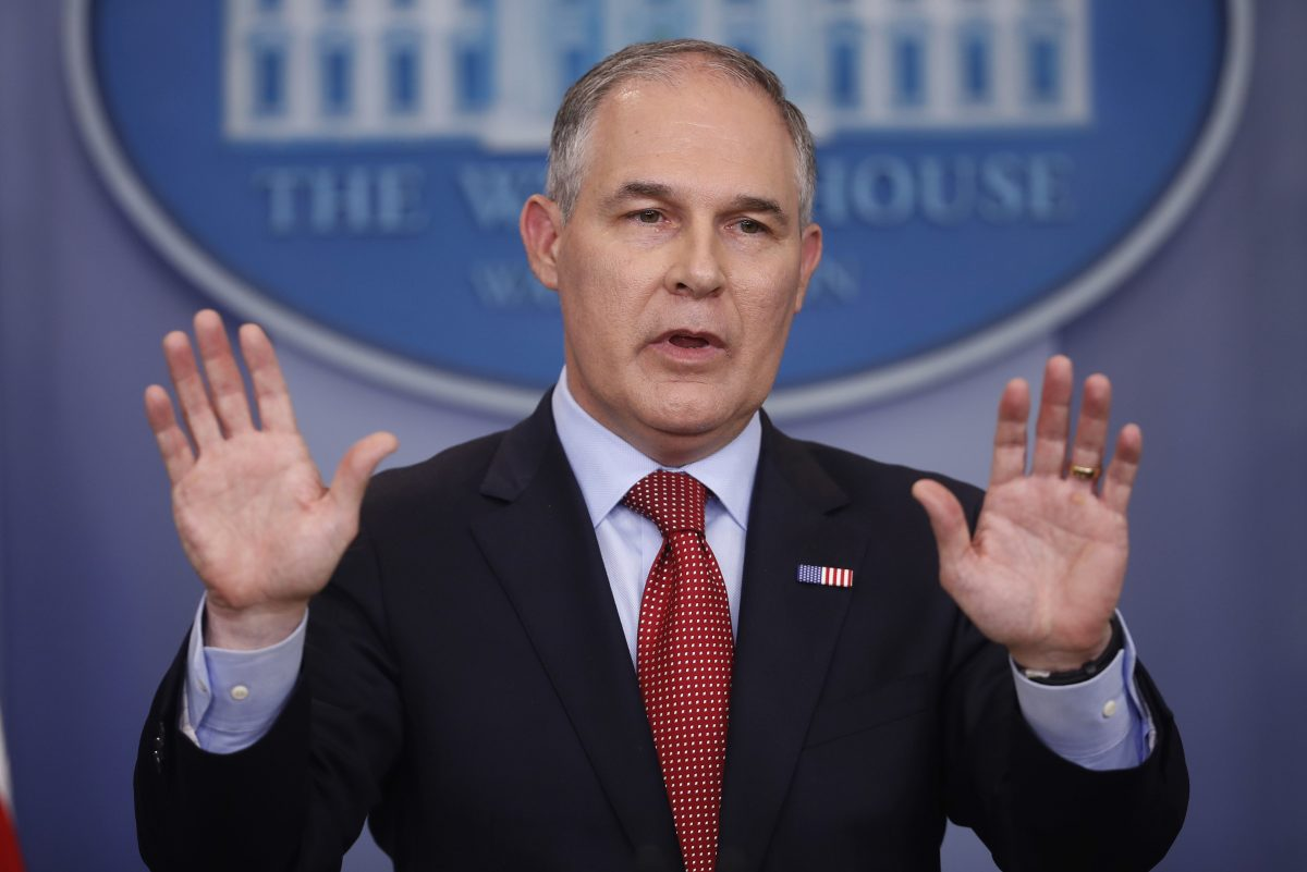 EPA Administrator Scott Pruitt is named in Maryland's legal action.