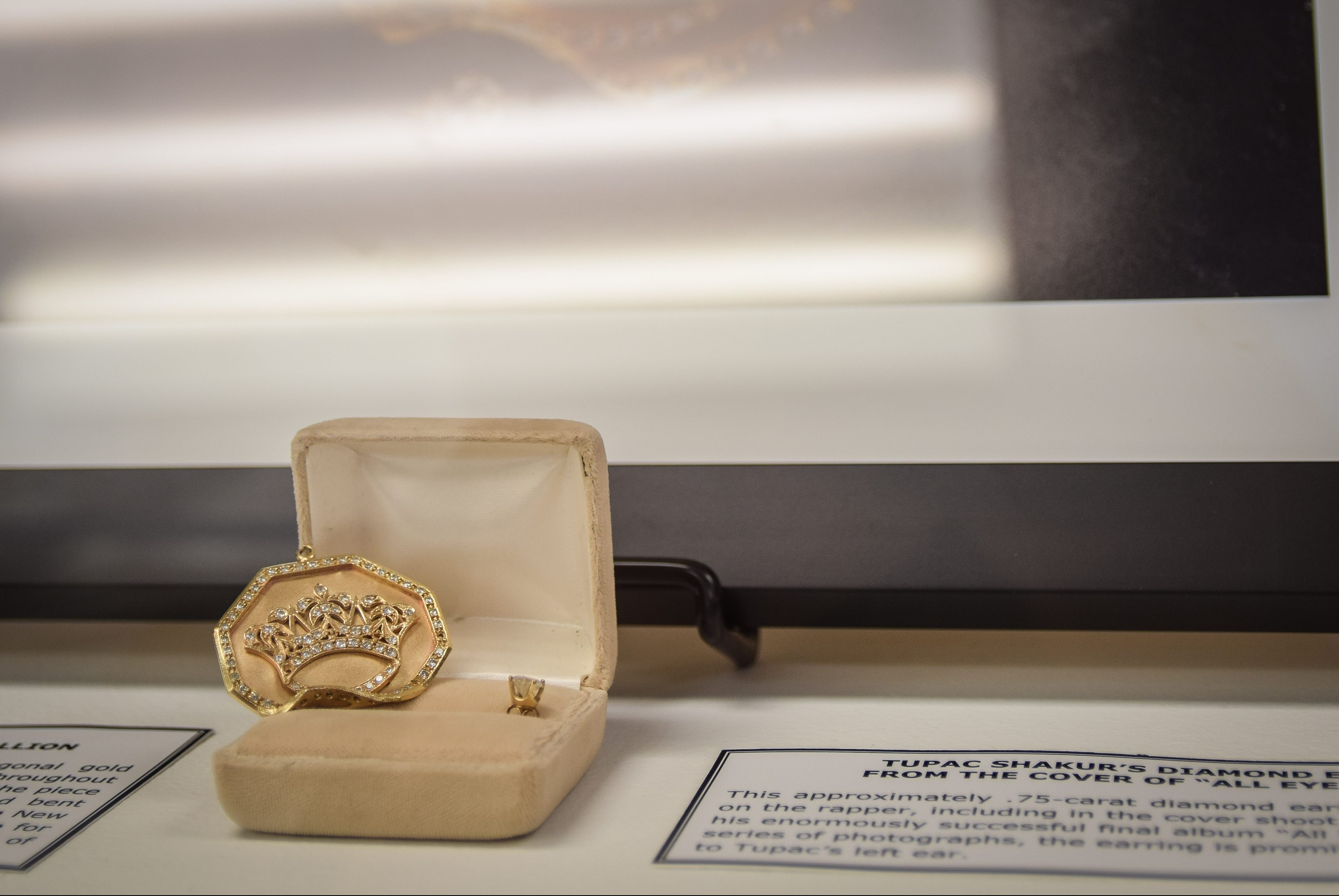 On November 1, 2018 the Blockson Collection at Temple University presented a number of items donated to the collection that belonged to rapper Tupac Shakur. Items include handwritten lyrics, a bullet-dented medallion Shakur wore during a 1994 shooting.
