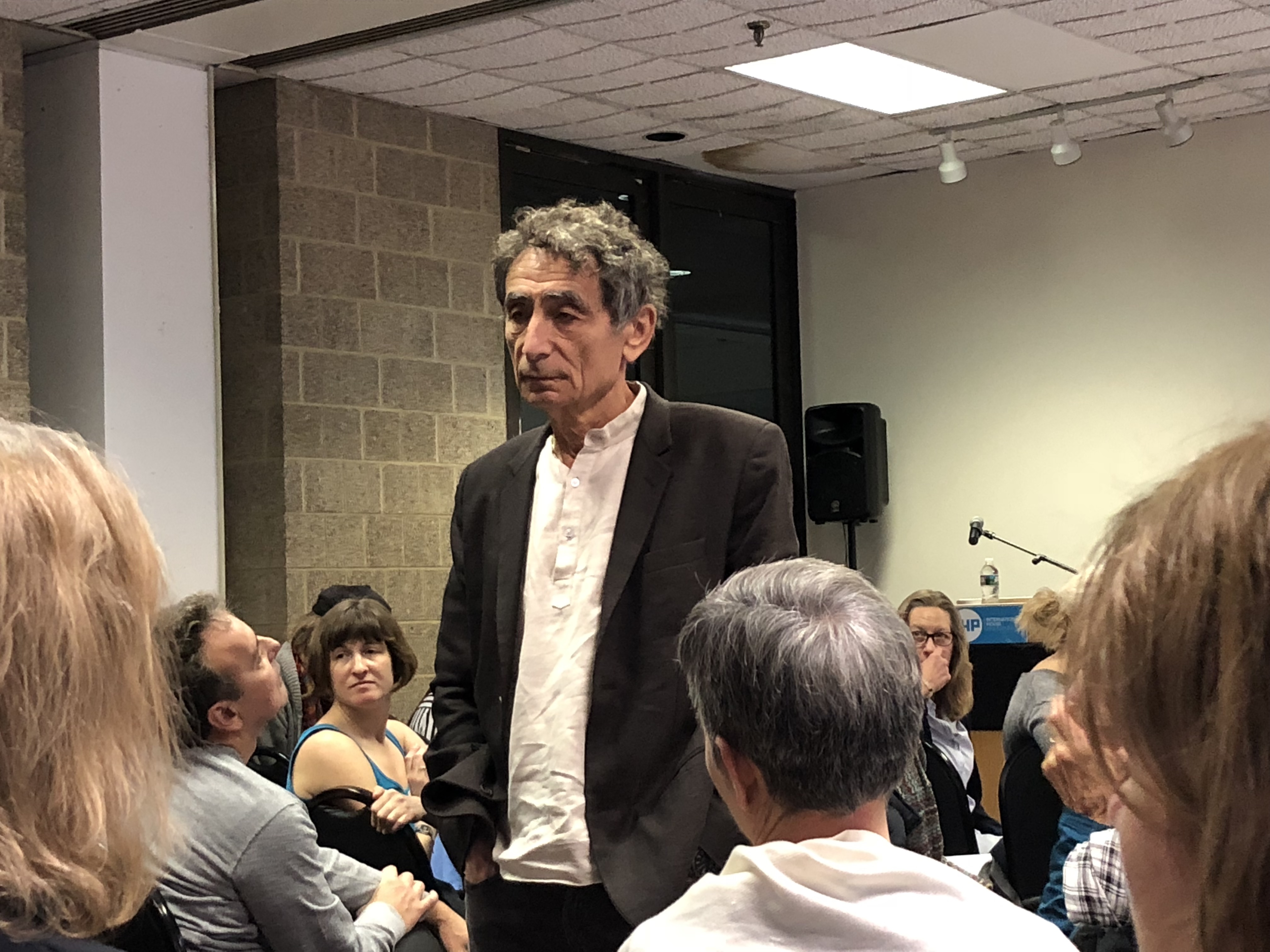 Canadian Hungarian-born physician and bestselling author Gabor Maté in Philadelphia for a symposium on addiction and trauma hosted by Mural Arts, October 29, 2018