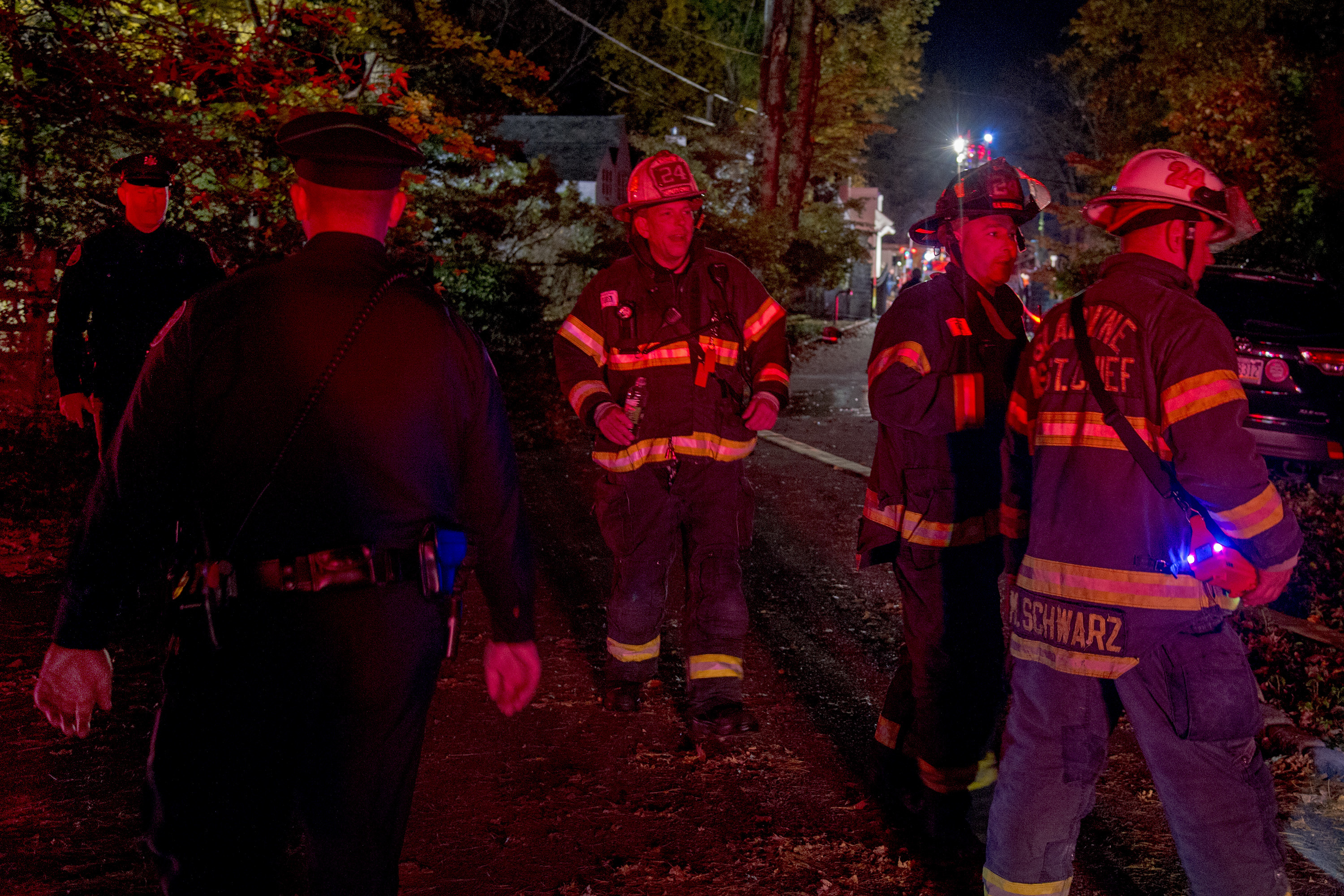 The scene at the house on Dodds Lane in Gladwyne November 4, 2018 were there was an explosion, so loud it could be heard for miles.
