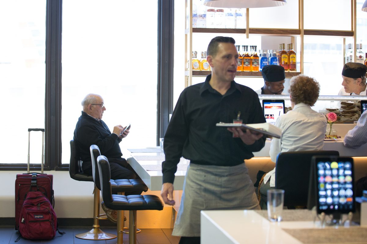 Boule Cafe, a new restaurant at the Philadelphia International Airport, features advanced service through iPads.