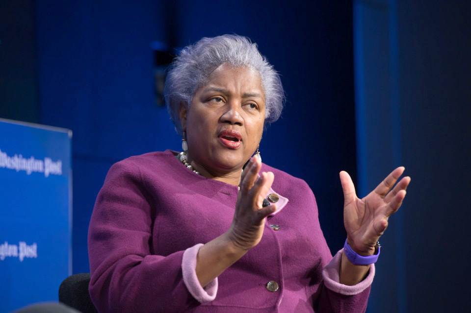 Donna Brazile, former interim chair of the Democratic National Committee, speaks during a Washington Post Live event on March 22, 2017. MUST CREDIT: Photo for The Washington Post by Kate Patterson