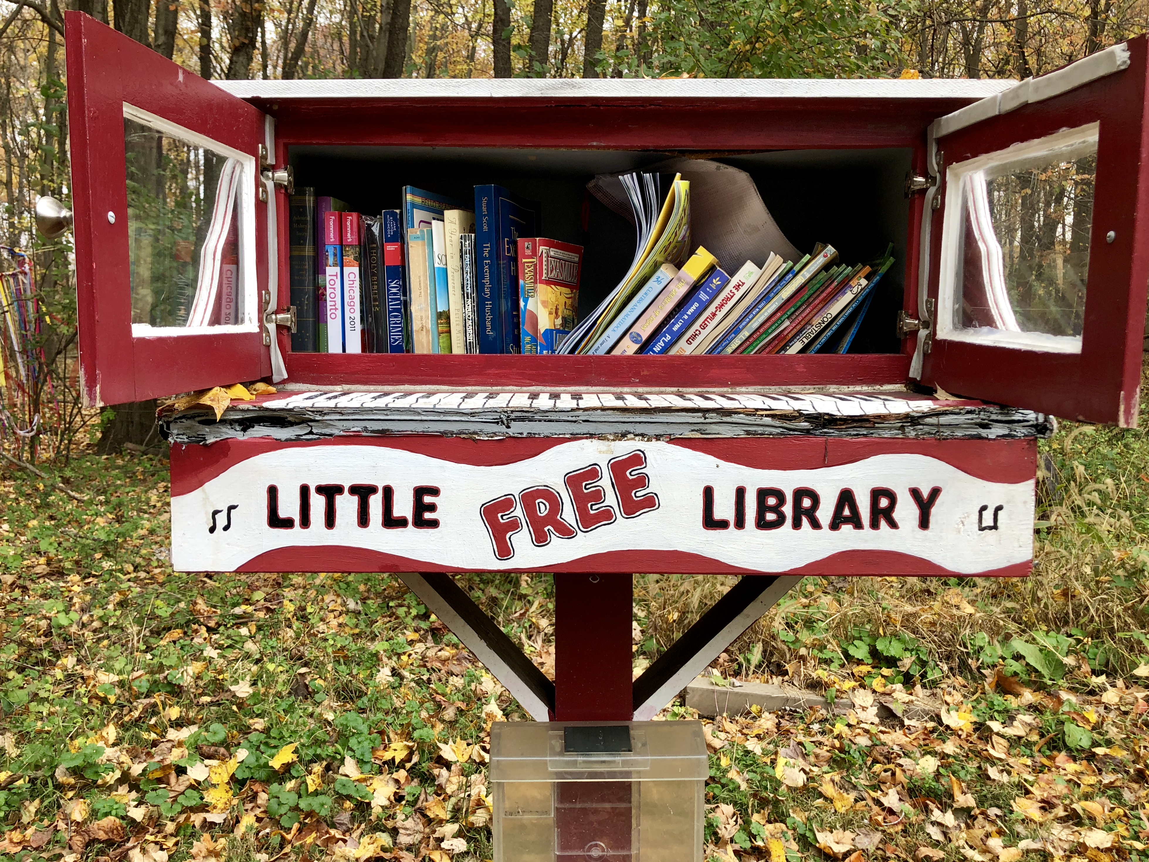 Marty Shively´s Little Free Library at 1306 Bath Road in Bristol Township, Pa.