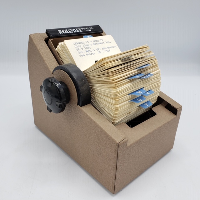 A Rolodex used by former mayor Frank Rizzo is up for sale this month.
